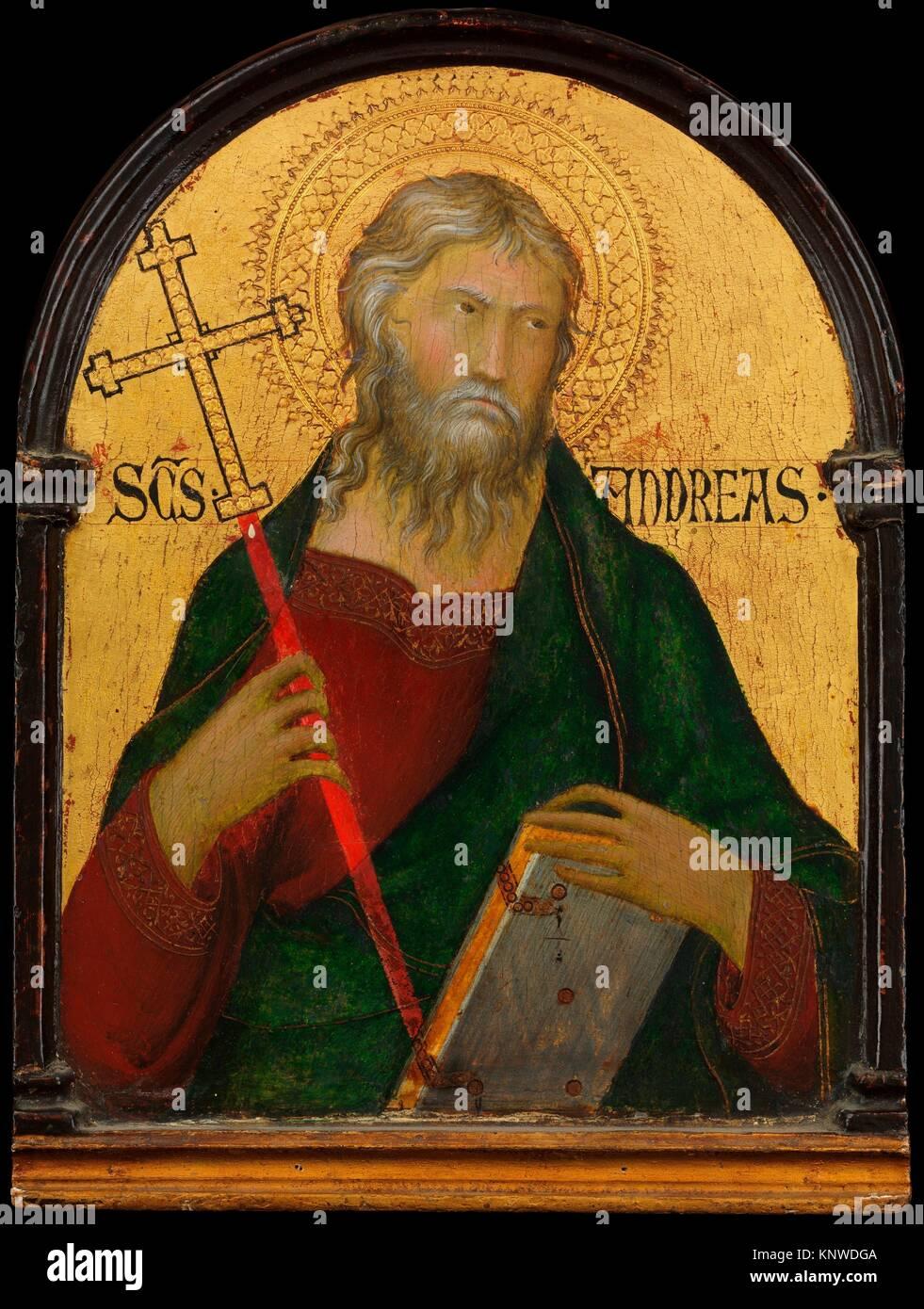 San Andrés. Artista: Taller de Simone Martini (Italiano, Siena, activo en 1315 y murió 1344 Aviñón); Fecha: ca. Foto de stock