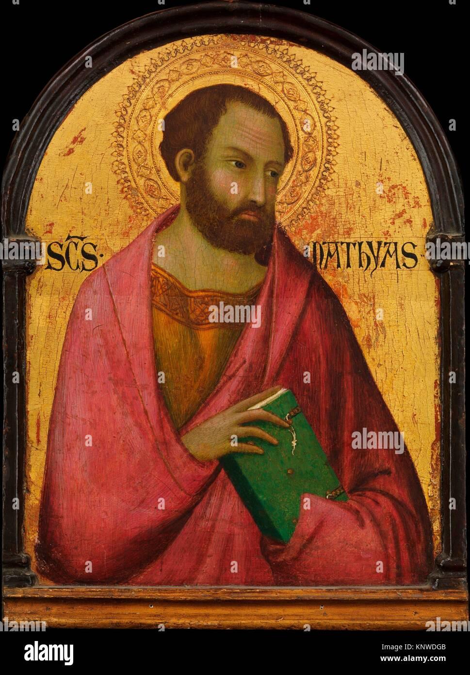San Matías. Artista: Taller de Simone Martini (Italiano, Siena, activo en 1315 y murió 1344 Aviñón); Fecha: ca. Foto de stock