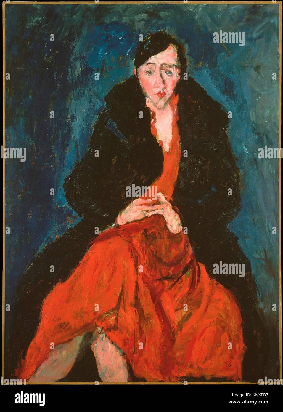 Retrato de Madeleine Castaing. Artista: Chaim Soutine (francés (nacido en Lituania), Smilovitchi París 1893-1943); Foto de stock