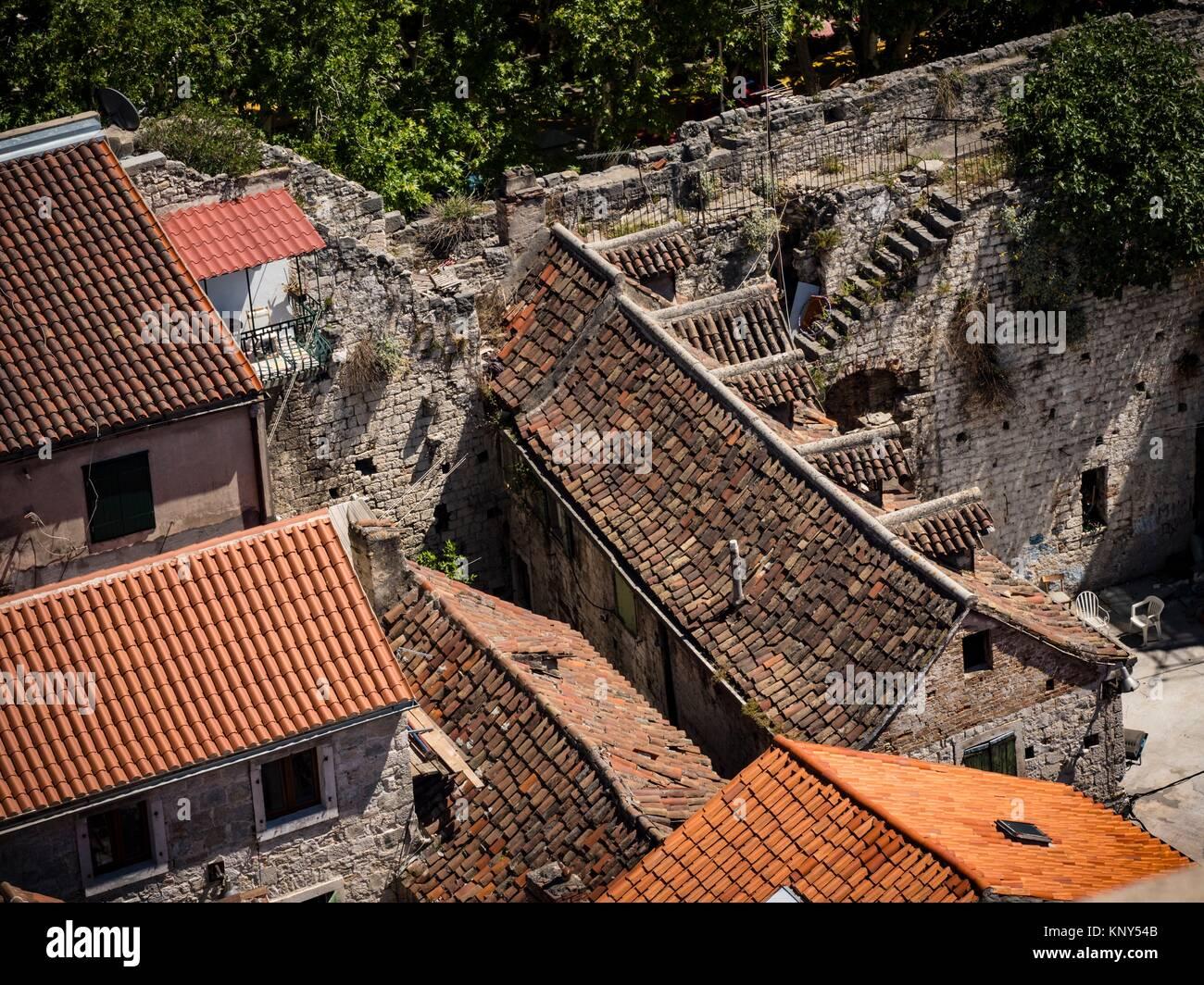 Split Croacia Campanario Vista. Foto de stock