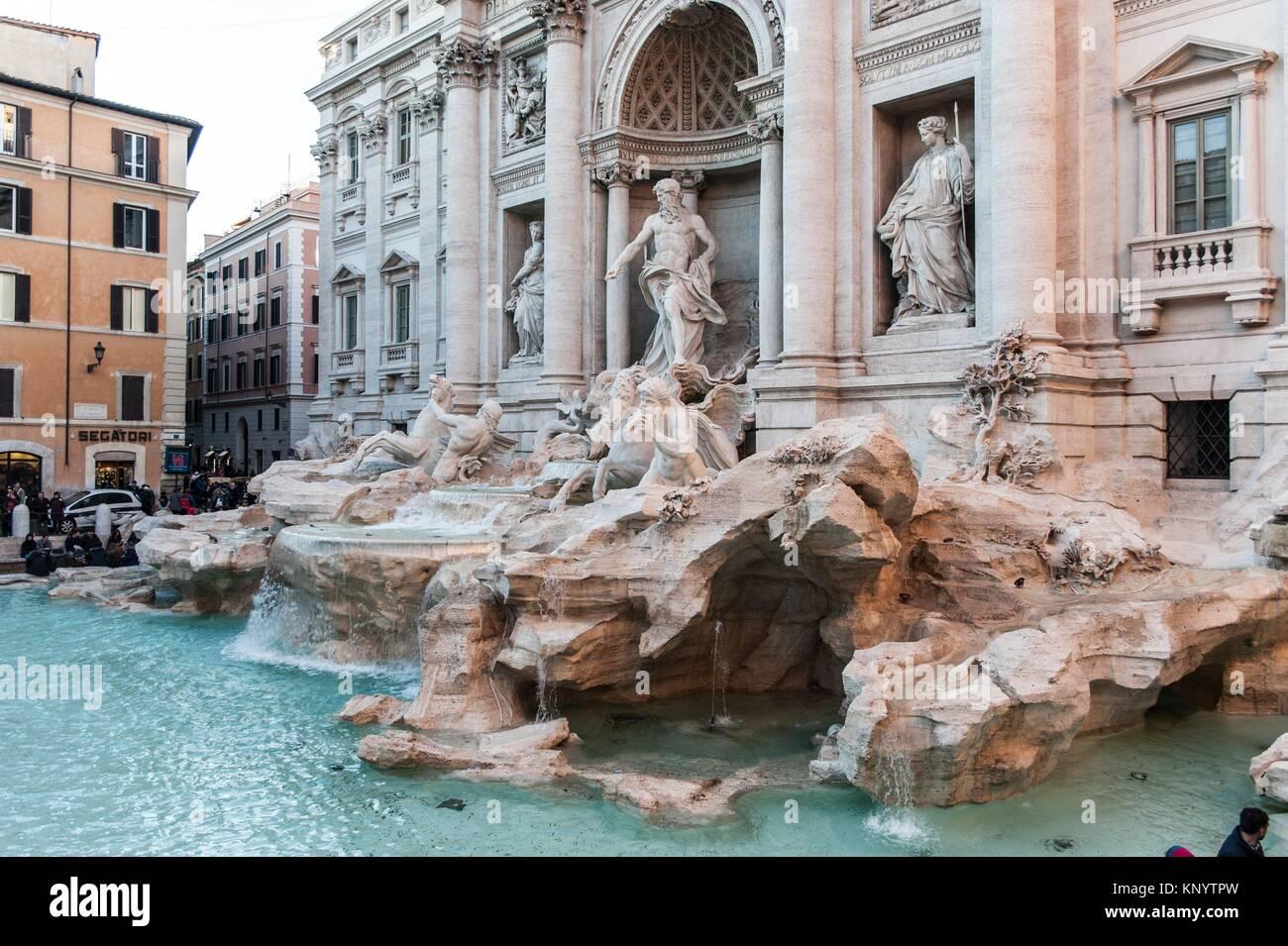 La Fontana di Trevi, Roma, Italia Foto de stock