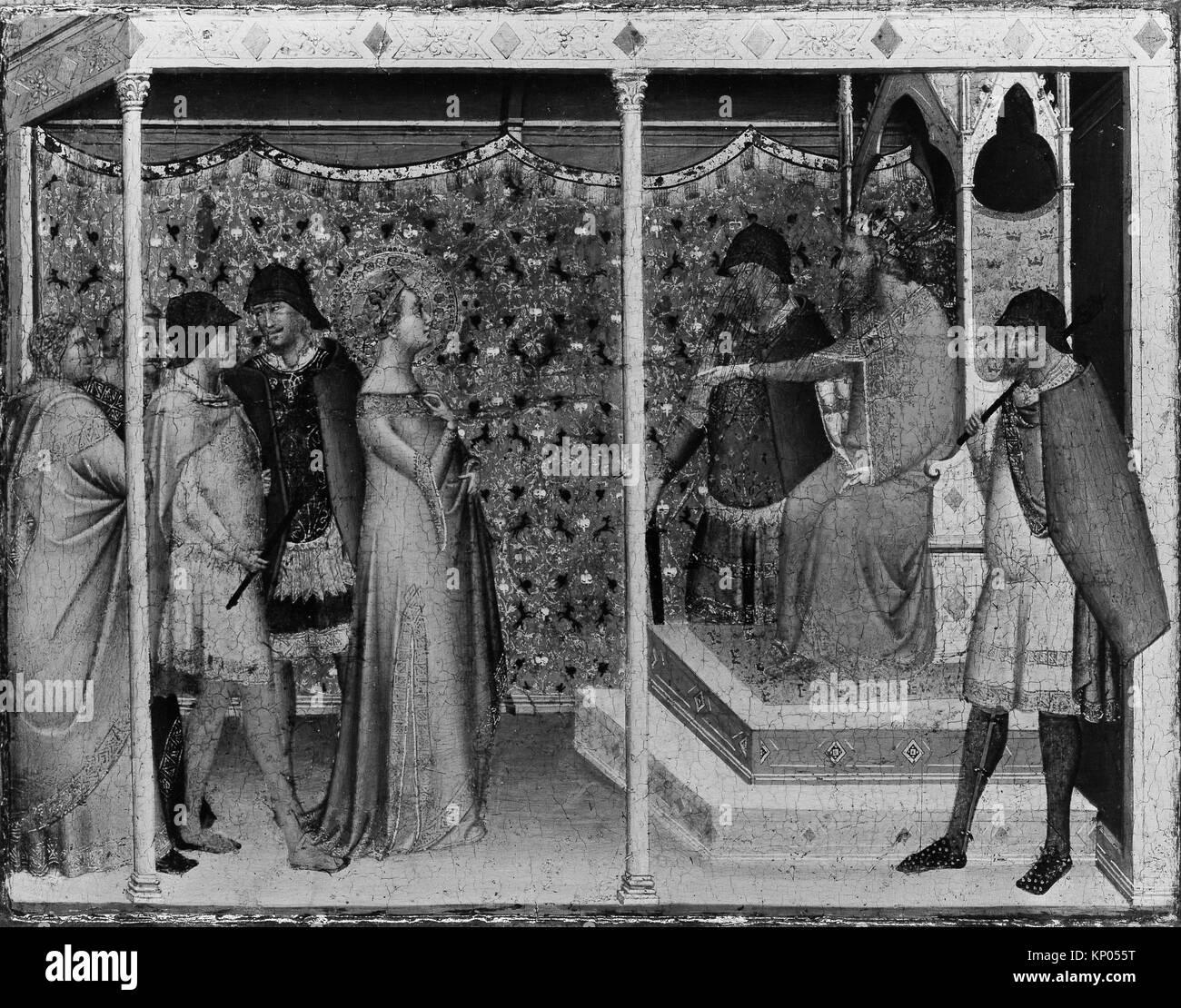Santa Reparata antes del emperador Decio. Artista: Bernardo Daddi (Florencia, Italia (?) ca. 1290-1348 Florencia); Foto de stock