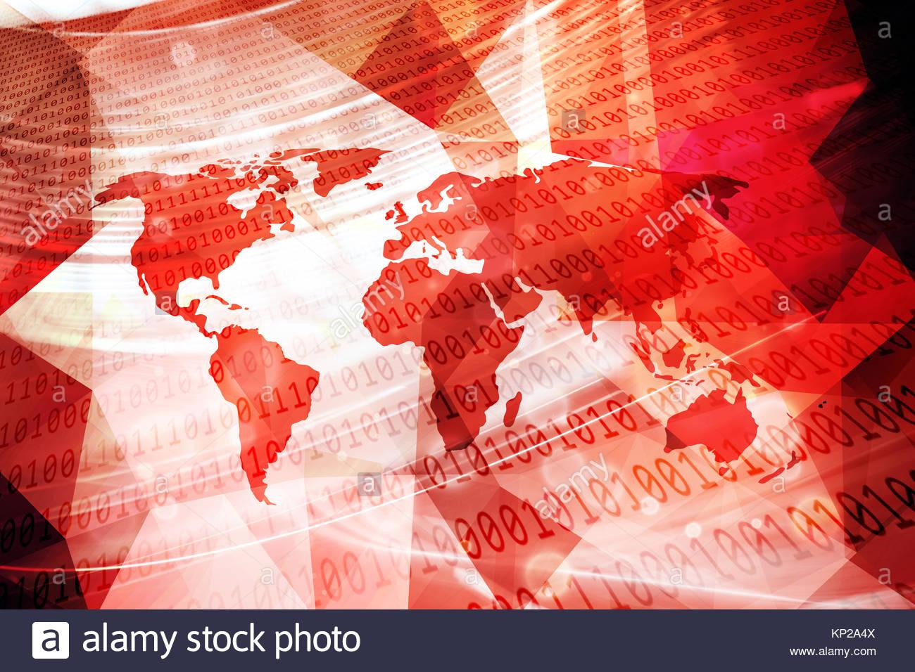 Red tech background world map imgenes de stock red tech mapa del mundo abstracto de color rojo con equipo de nmeros binarios ilustracin de fondo gumiabroncs Image collections