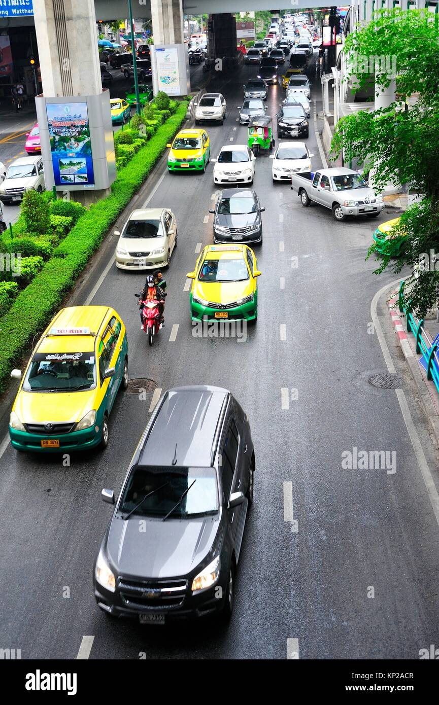 Ploenchit Road, Bangkok, Tailandia. Imagen De Stock