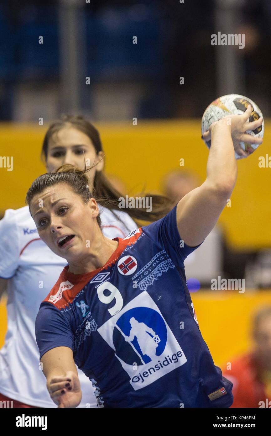 La noruega Nora Mork en acción durante el 2017 Campeonato ...