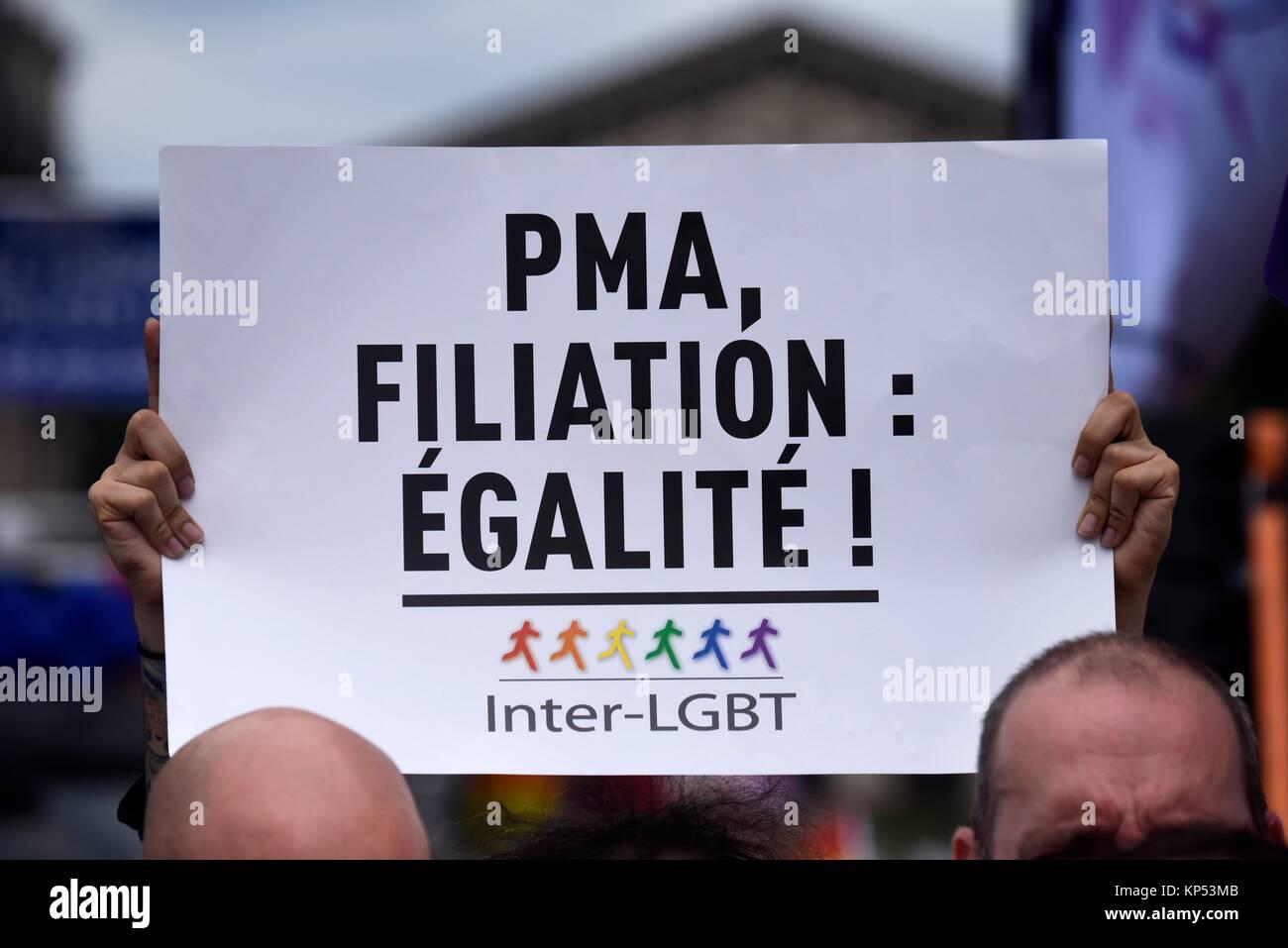 París Gay Pride 2017, 24 de junio, Francia. Imagen De Stock