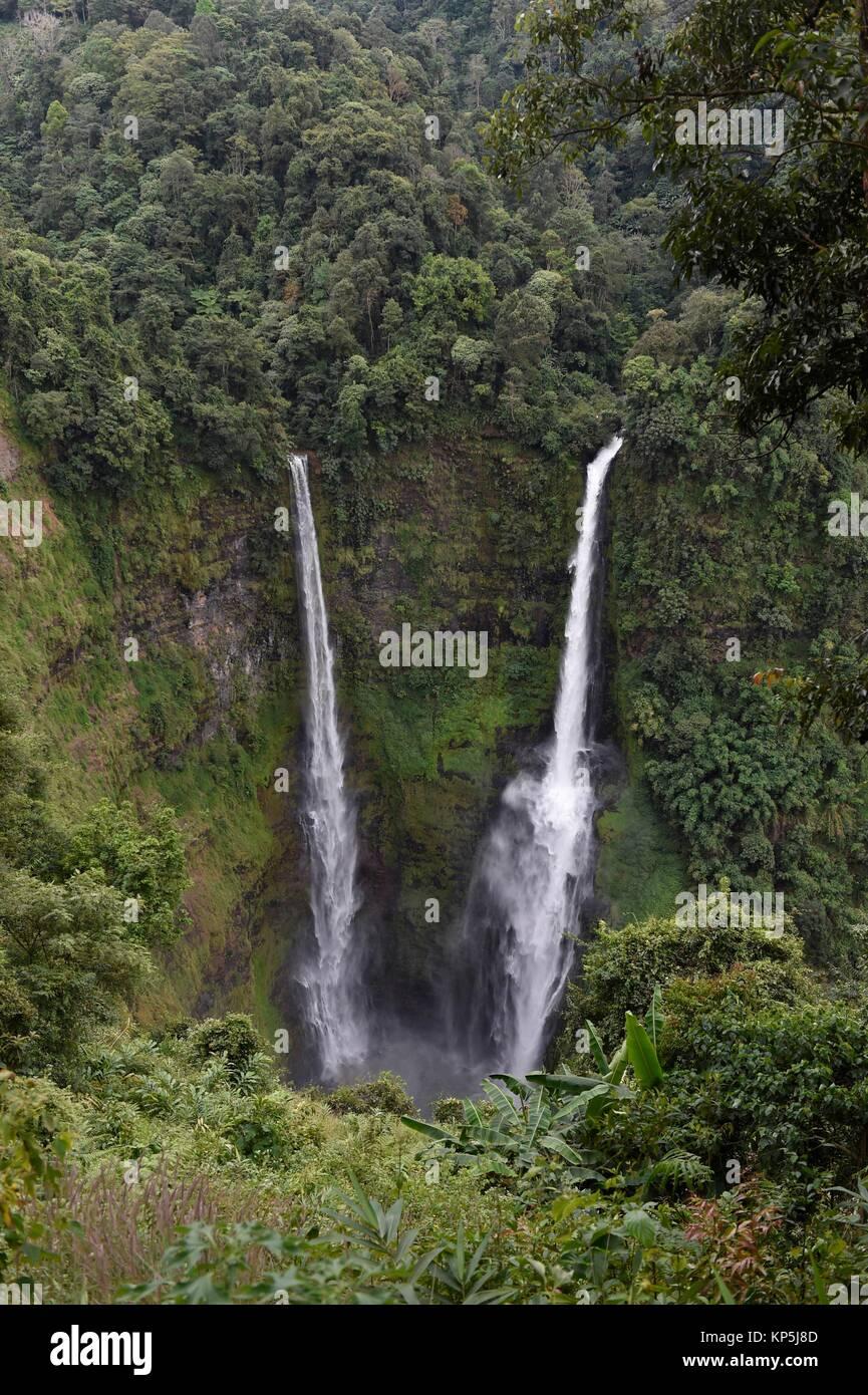 Tad Fane cascada,Bolaven Plateau,Pakse,Laos,el Sudeste de Asia. Foto de stock
