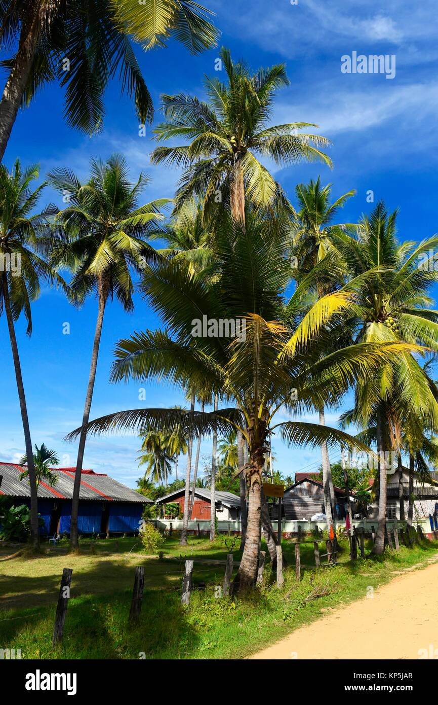 Hecho Det isla en la zona de cuatro mil islas,Si Phan Don,del río Mekong,sur de Laos, el sudeste de Asia. Imagen De Stock
