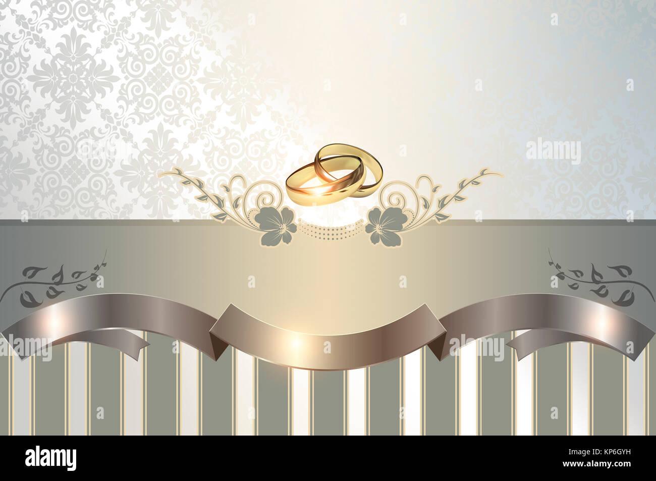 Fondo Decorativo Con Anillos De Oro Blanco Y Estampados