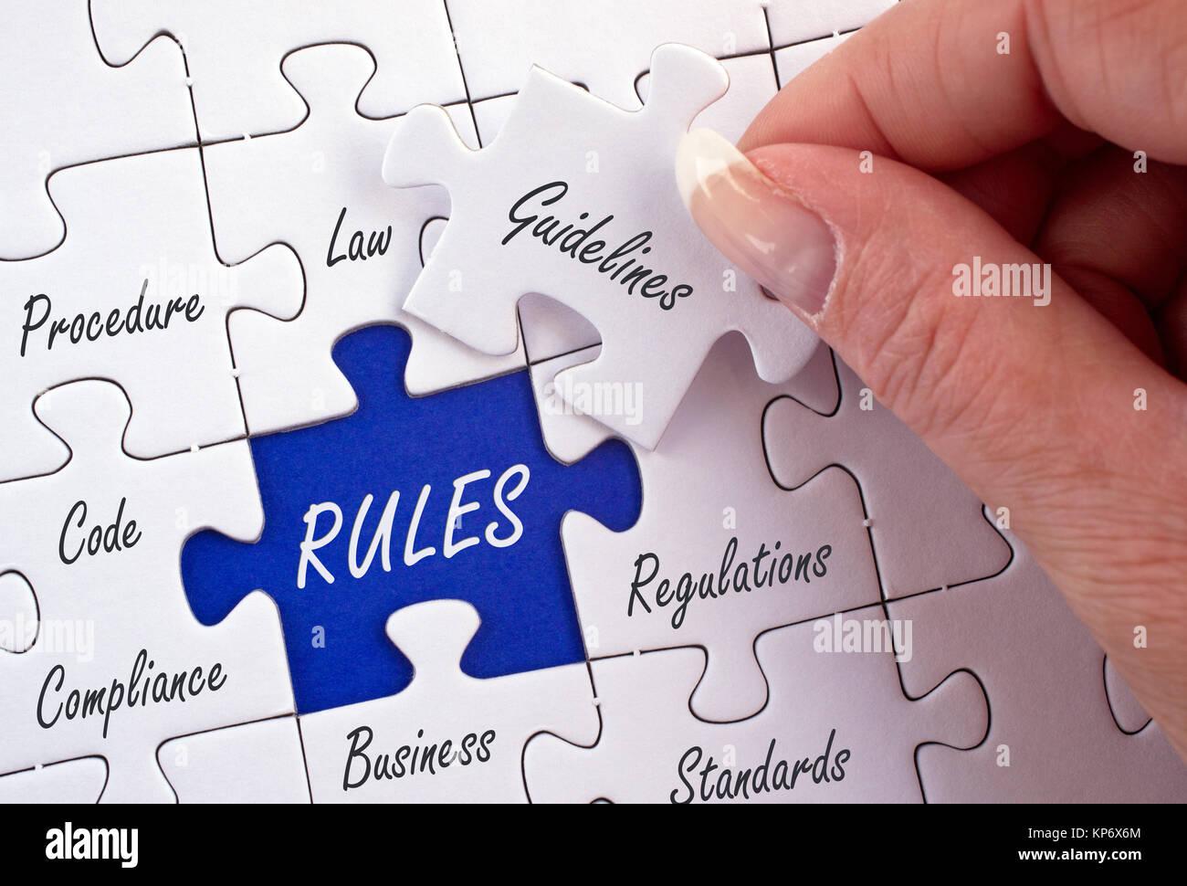 Concepto de negocio reglas Imagen De Stock