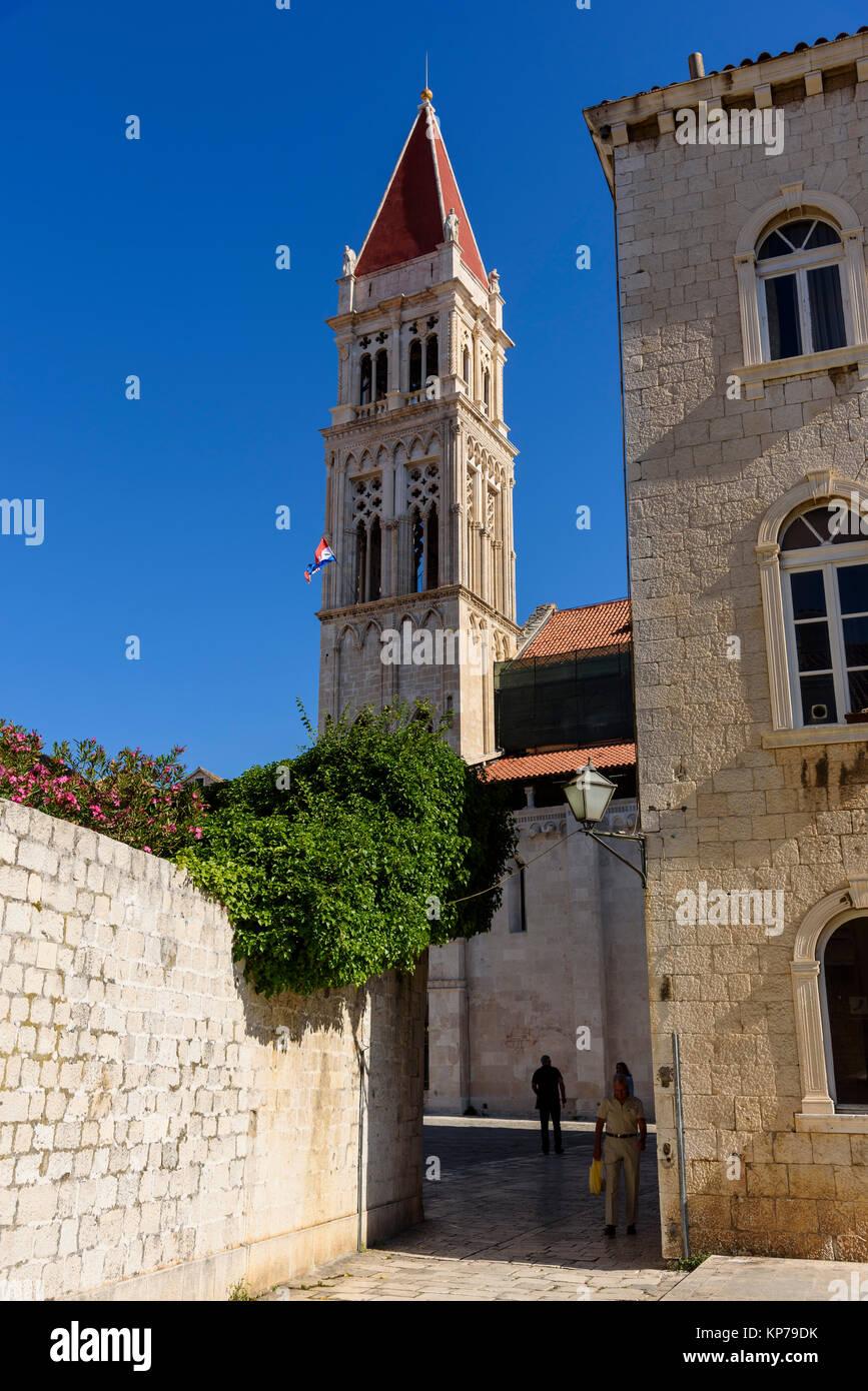 Trogir Ciudad Vieja, Croacia Foto de stock