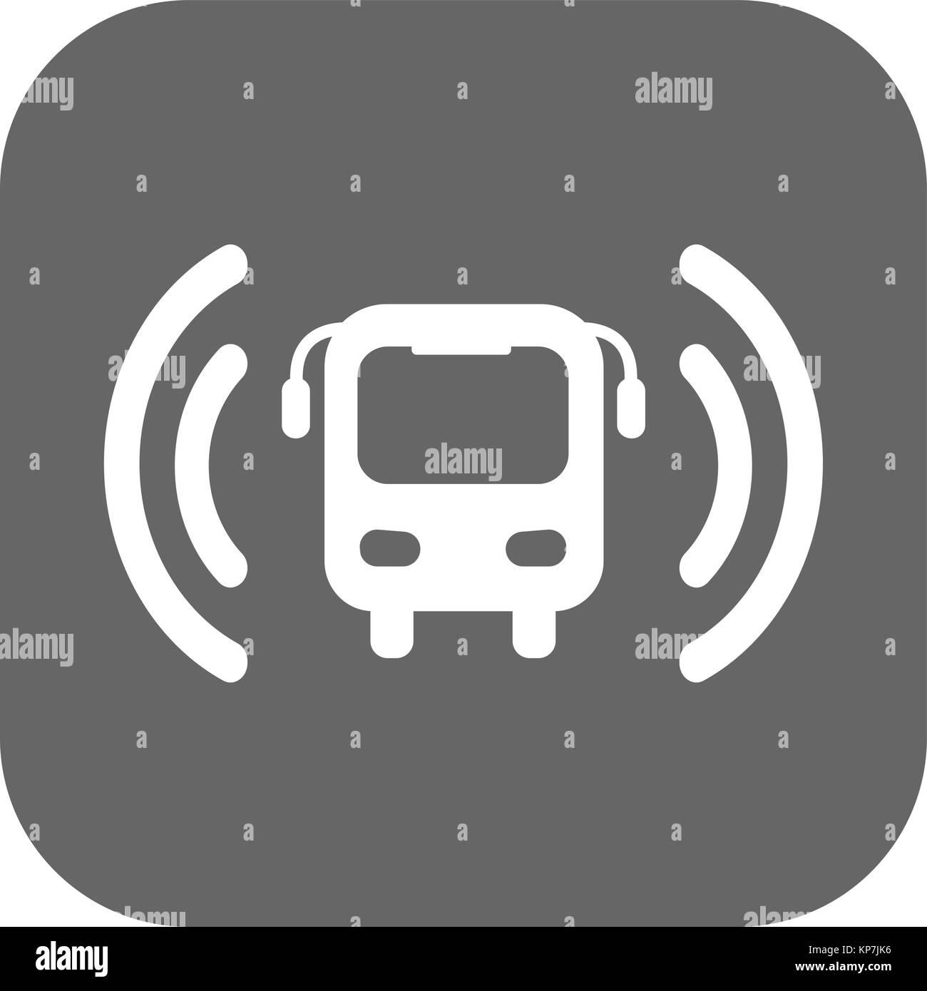 Wi-fi bus icono vectorial Imagen De Stock