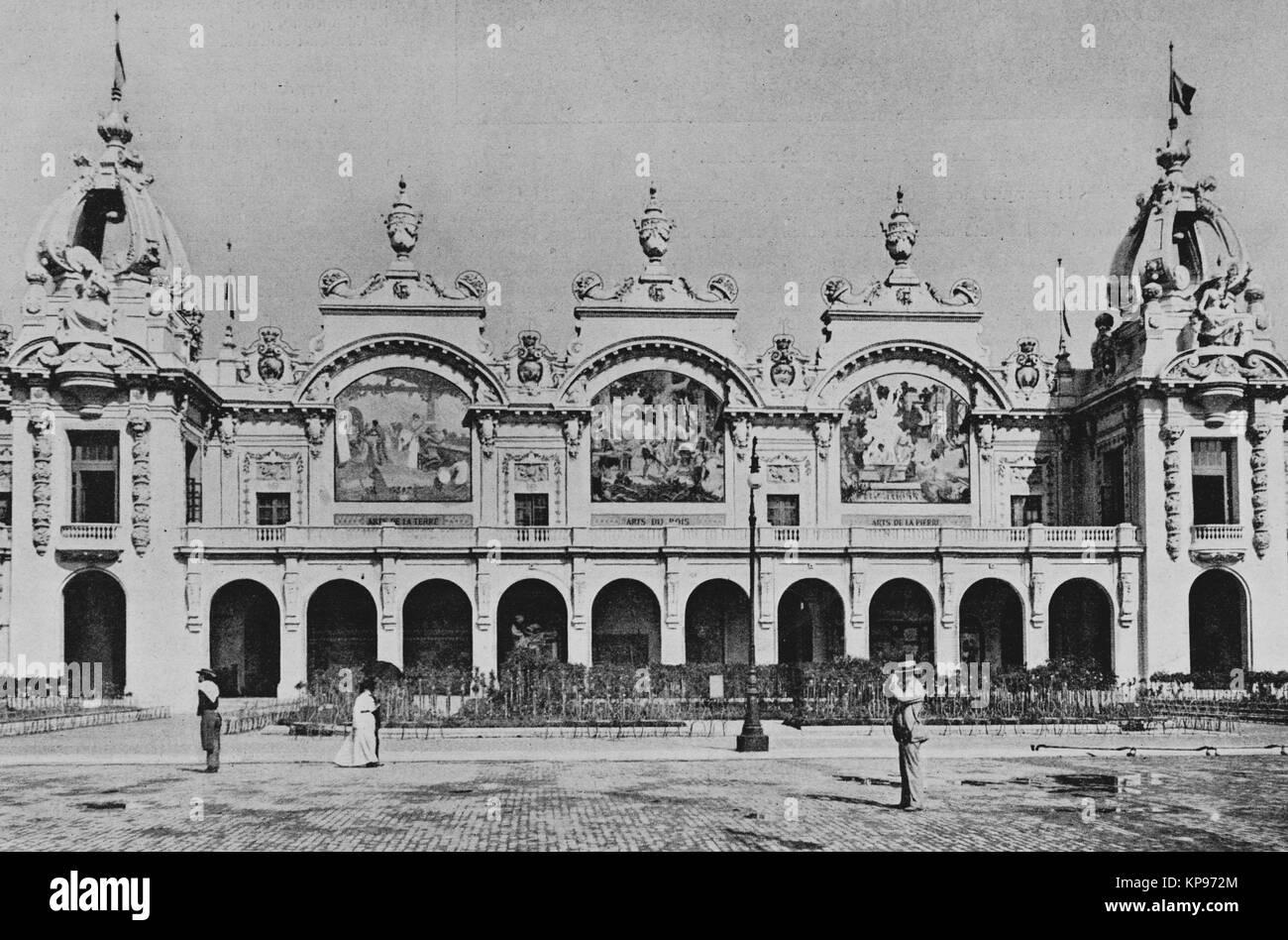 Palais des fabrica nationales, Exposición Universal de 1900 en París, a imagen del semanario francés Imagen De Stock