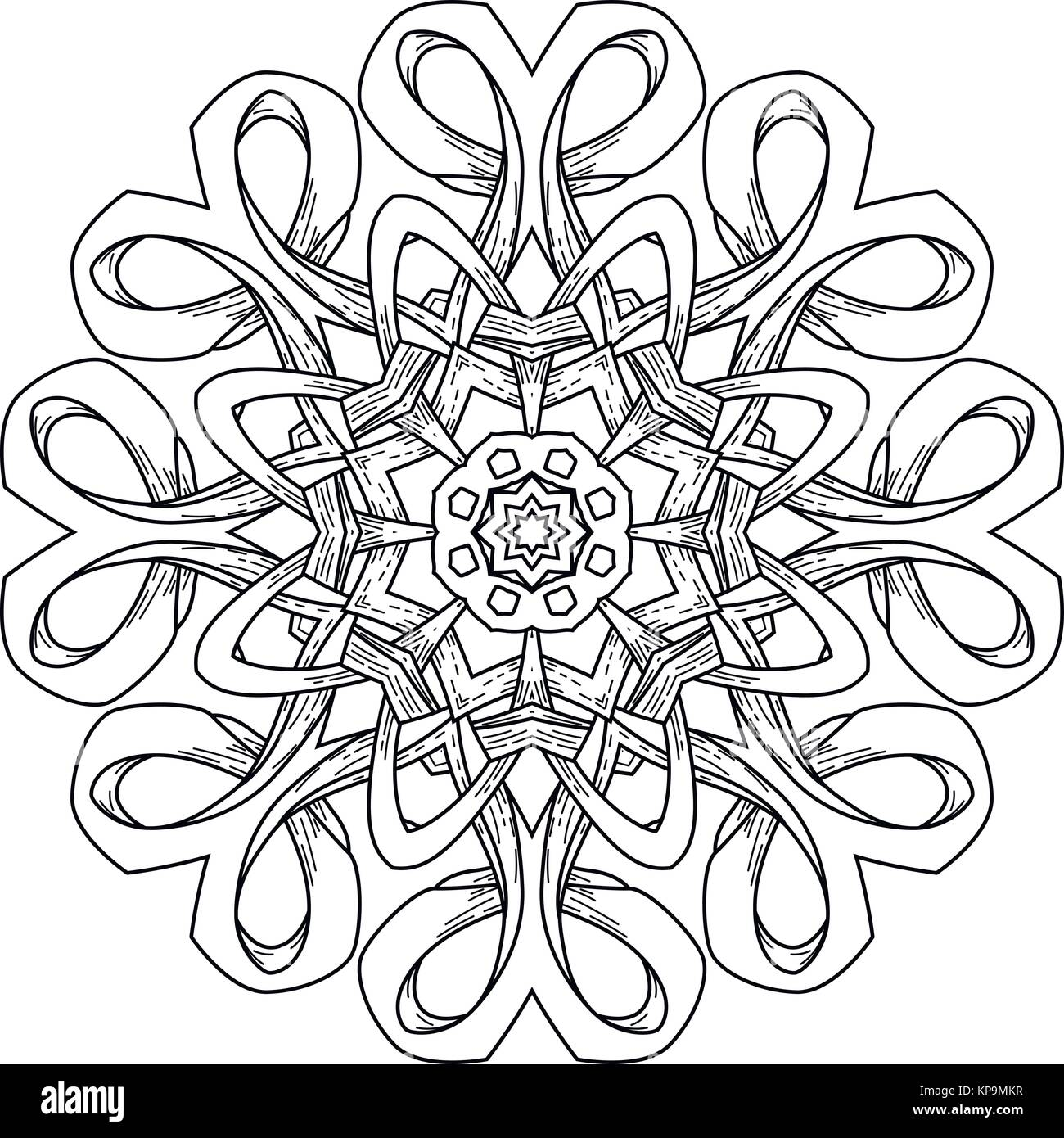 Mandala. Resumen fondo decorativo. El Islam, árabe, oriental, India ...