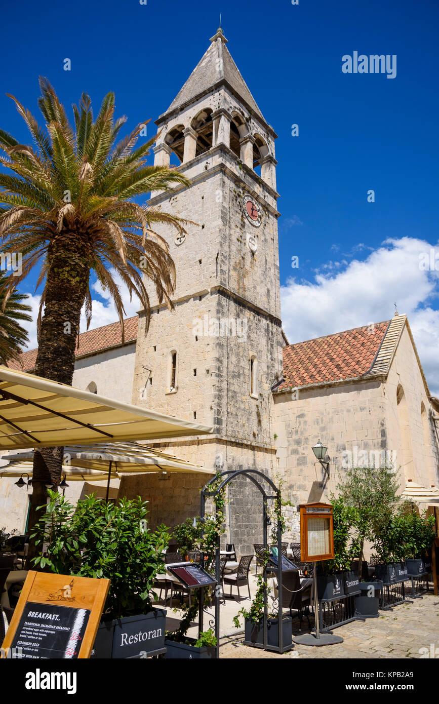 Iglesia de Santo Domingo. Trogir Ciudad Vieja, Croacia Imagen De Stock