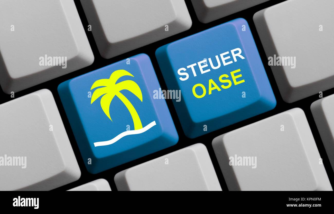 Paraíso fiscal online Imagen De Stock