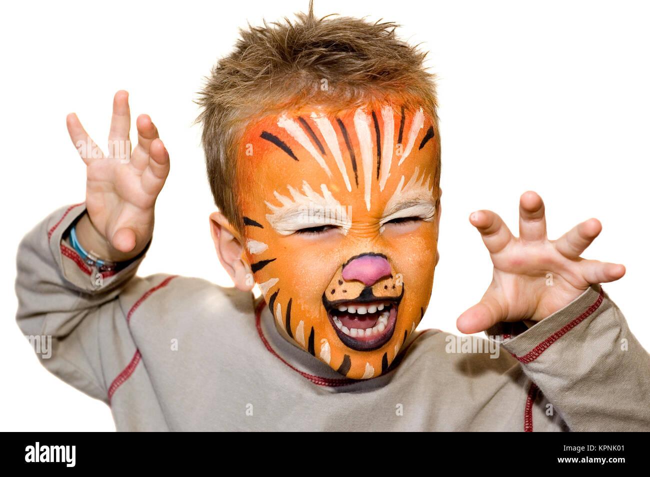 León enojado Foto de stock