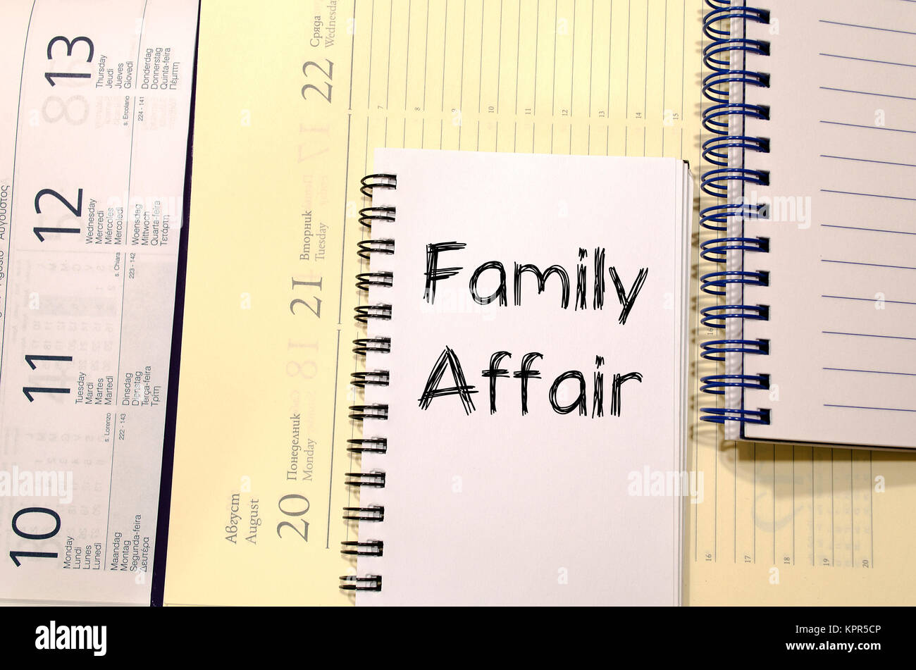 Family Affair concepto texto Foto de stock