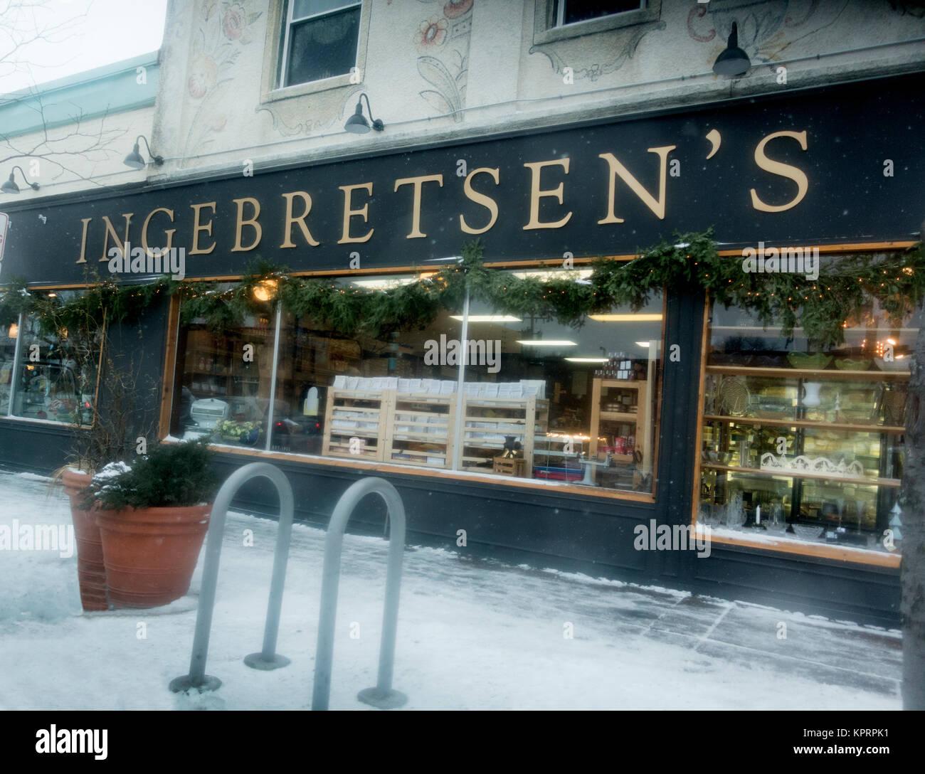 La Ingebretsen Escandinavia Foods & regalos. MN de Minneapolis, Minnesota, EE.UU. Foto de stock