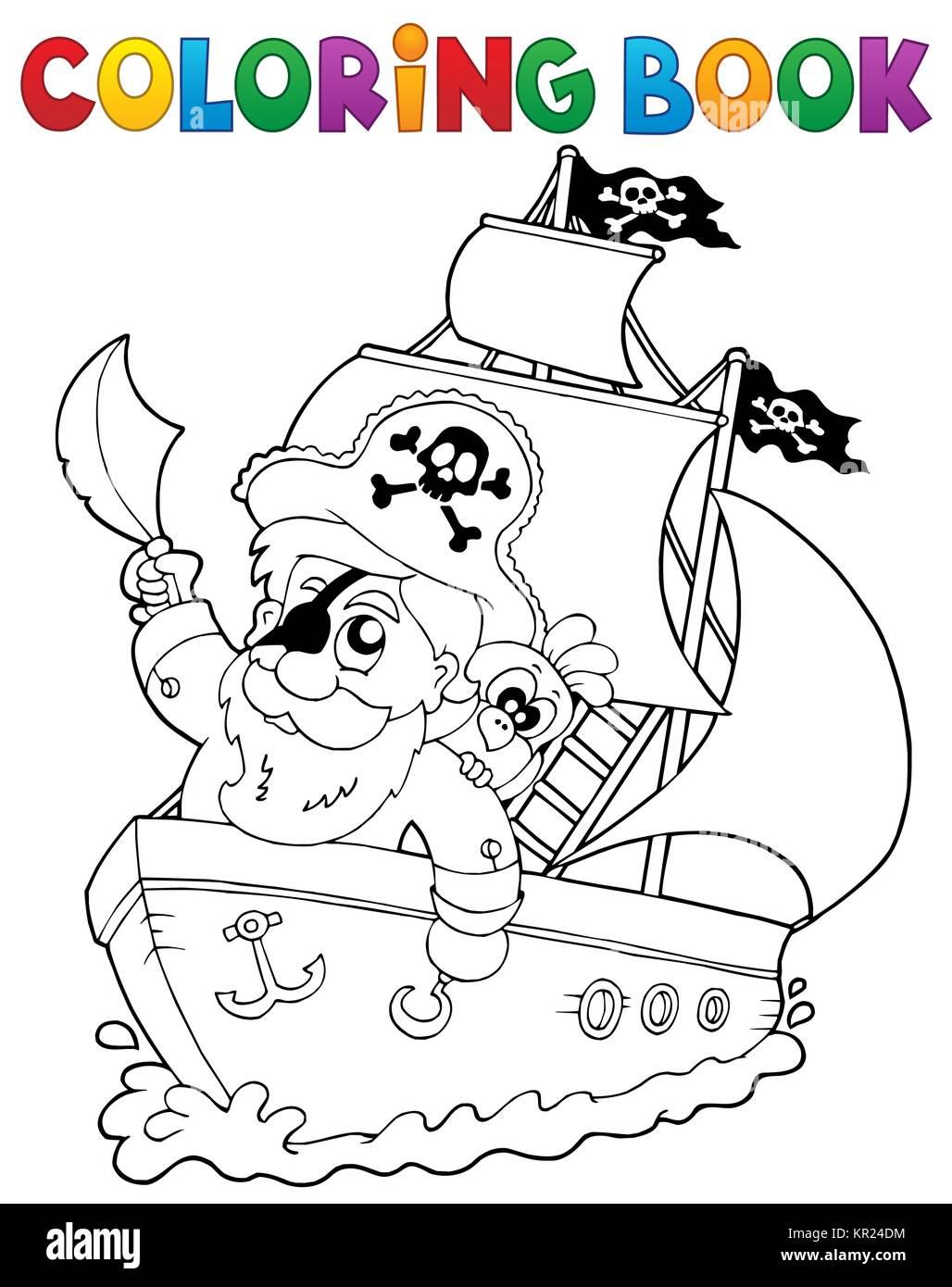 Libro Para Colorear Con Barco Pirata 2 Foto Imagen De