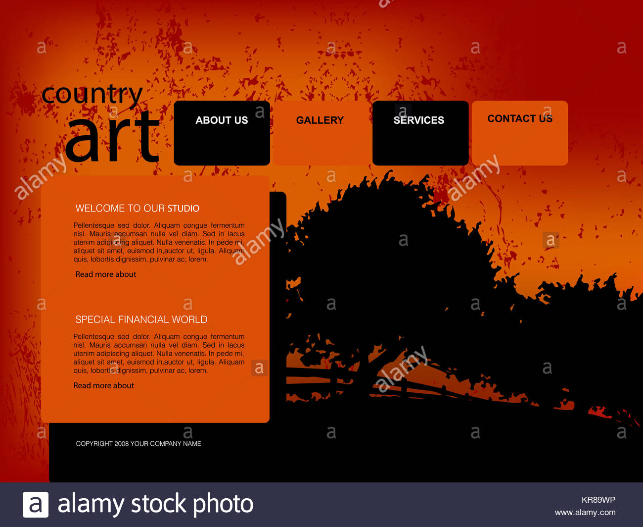 Black Header And Footer Imágenes De Stock & Black Header And Footer ...
