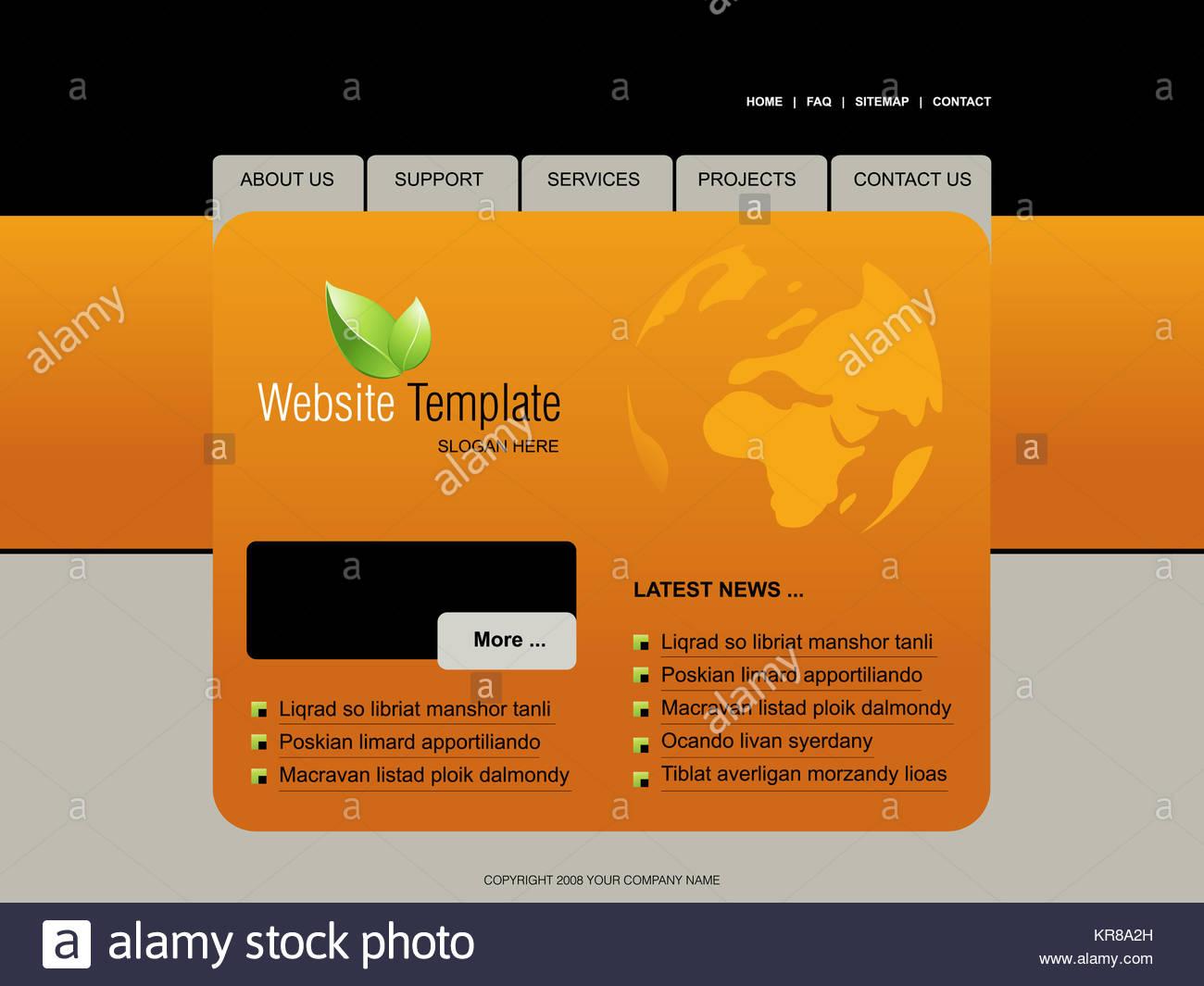 Plantilla de página Web, fácil de utilizar en Adobe Photoshop ...