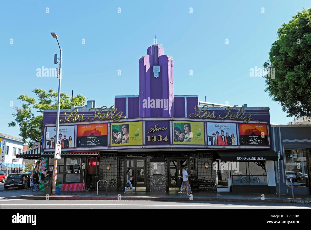 Los Feliz Teatro en la Vermont Avenue, barrio de Los Ángeles, California, EE.UU. Kathy DEWITT Imagen De Stock