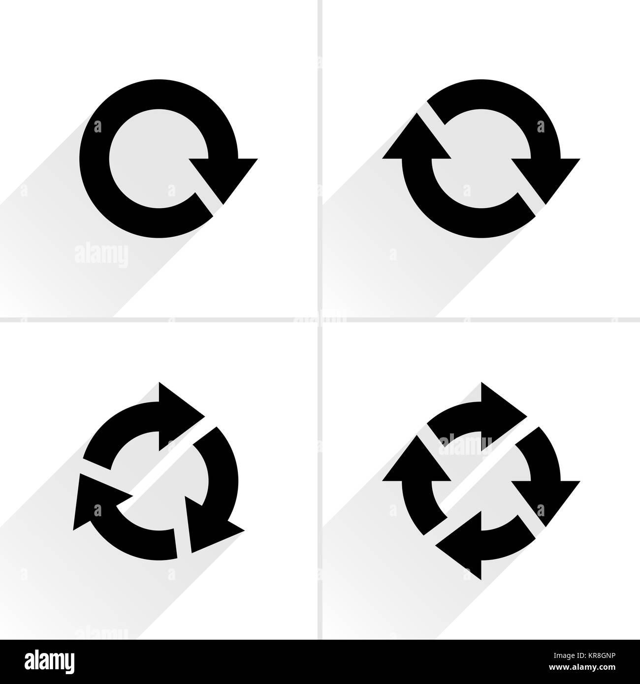 Flecha de color loop, refrescar, recargar, signo de rotación Foto de stock