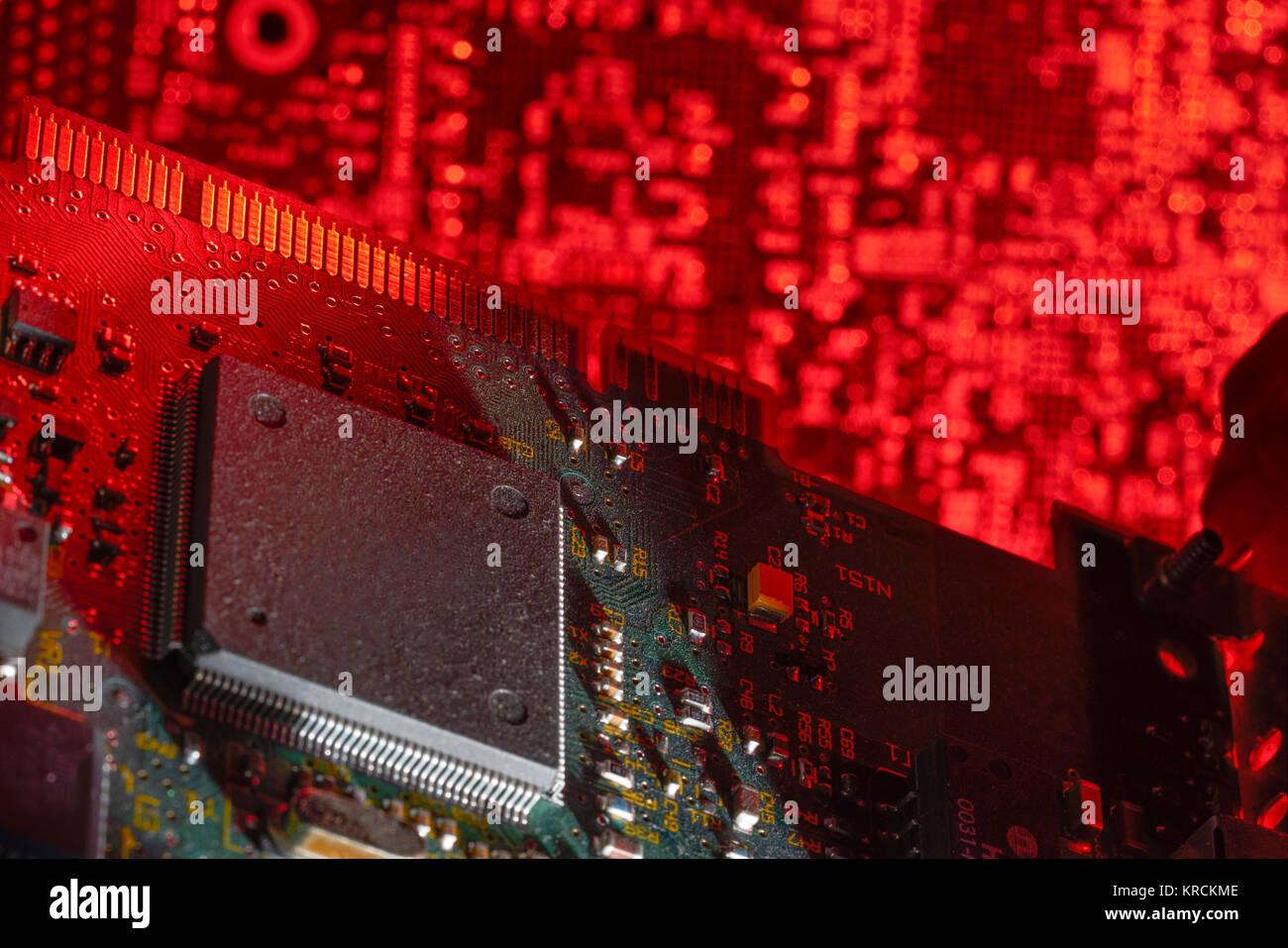 La memoria del equipo closeup Foto de stock