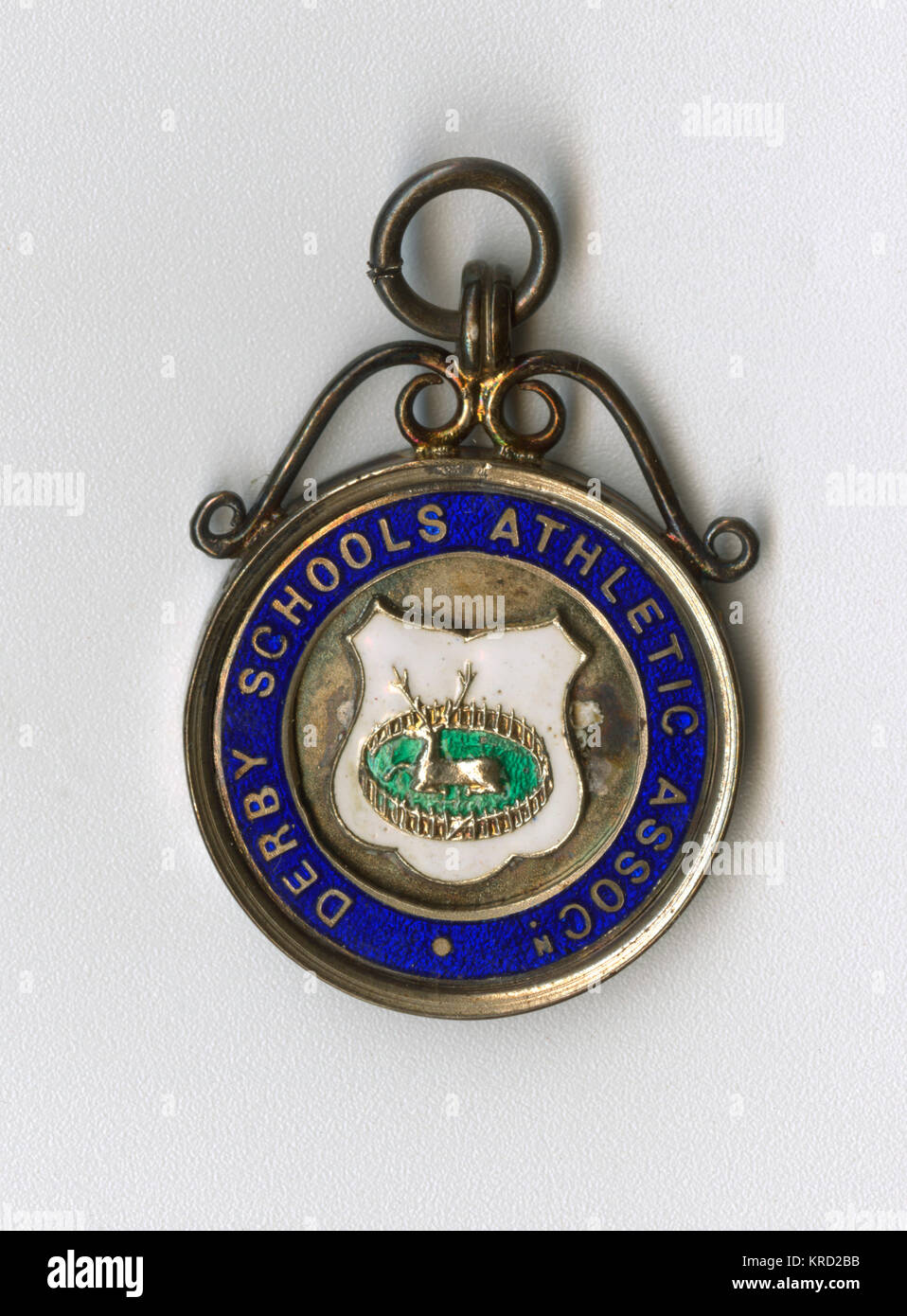 Medalla de la Asociación Atlética de escuelas de Derby, adjudicado a K. W. Watson para el primer premio Imagen De Stock