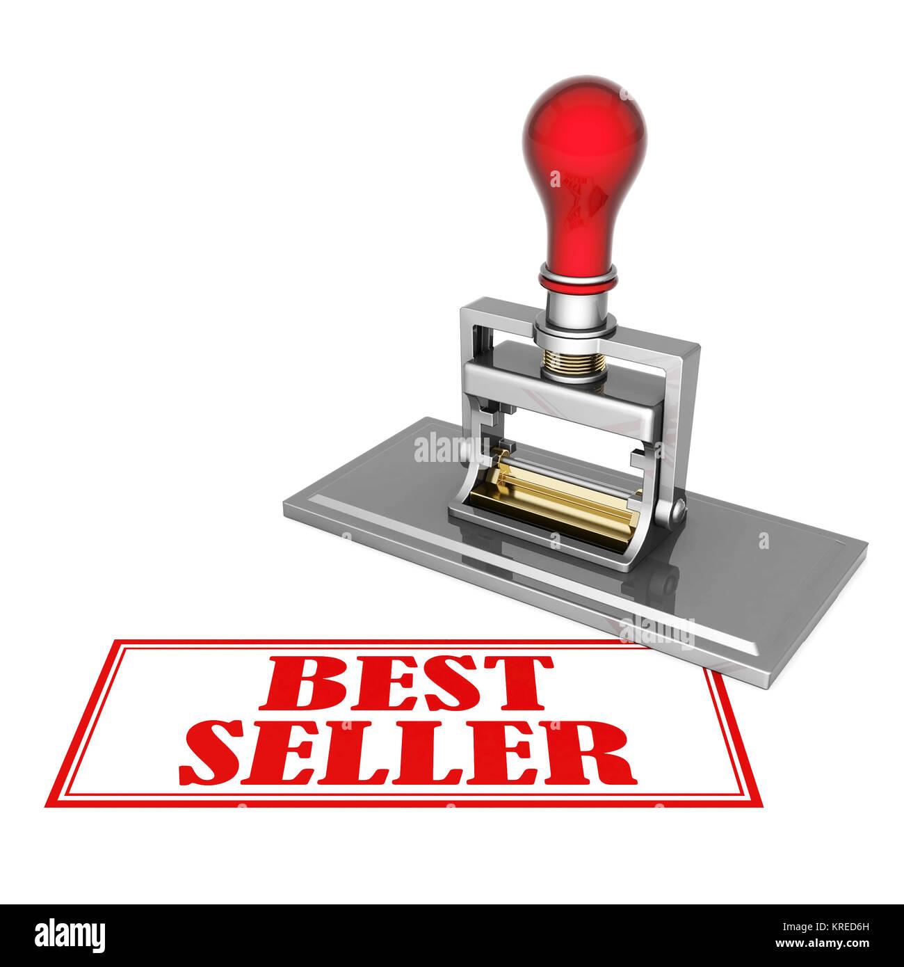 Best Seller hermoso sello aislado sobre fondo blanco. Foto de stock