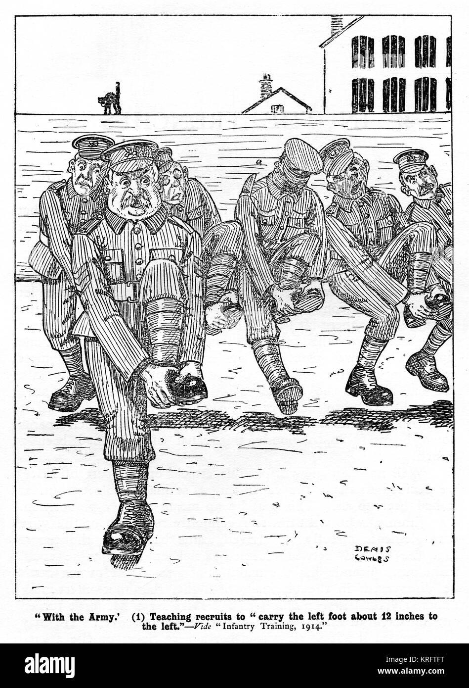 """Con el ejército - 1. La enseñanza reclutas a """"llevar el pie izquierdo unos 12 centímetros hacia Imagen De Stock"""
