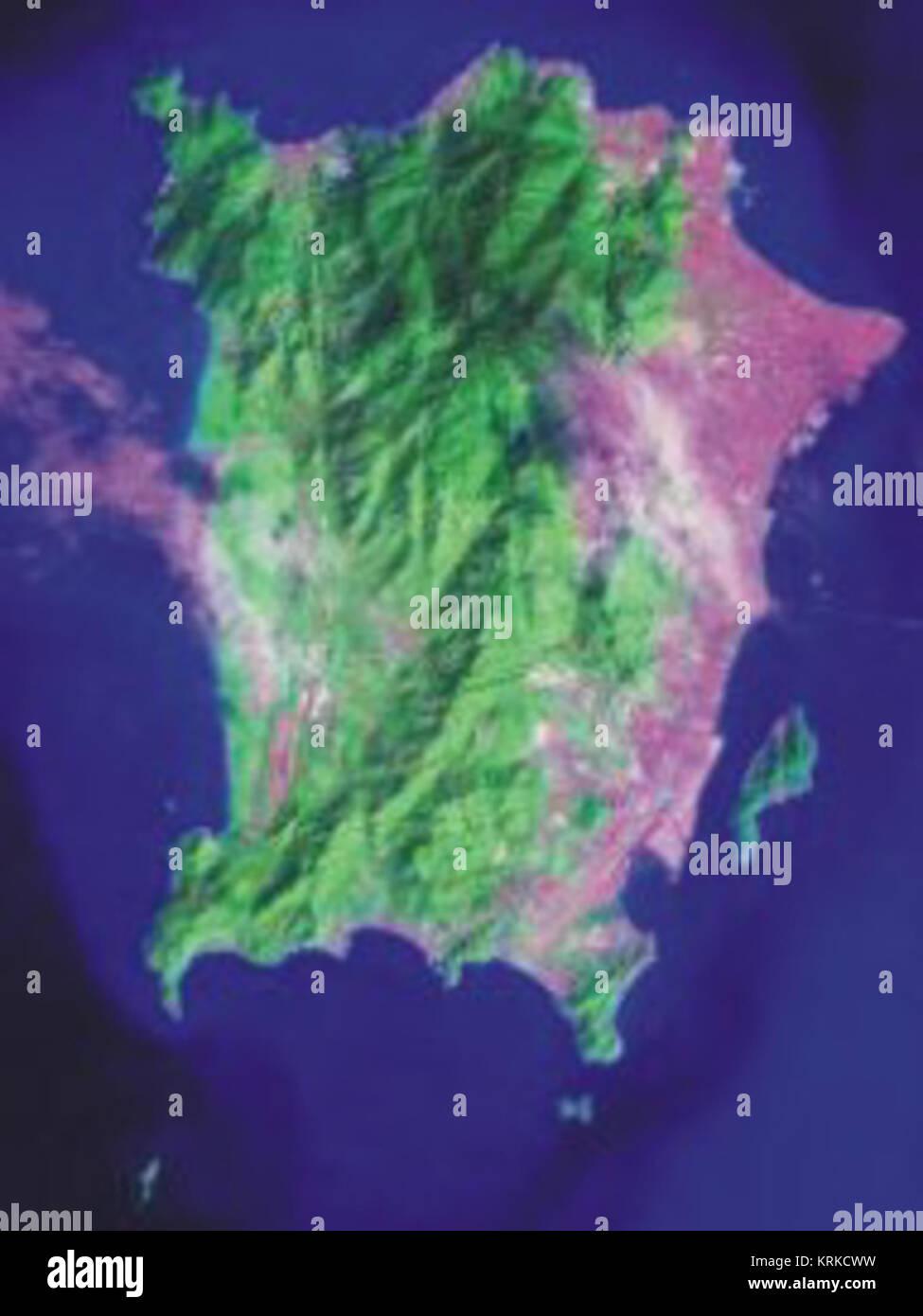 Malasia - semenanjung LANDSAT 2 Isla Penang Foto de stock