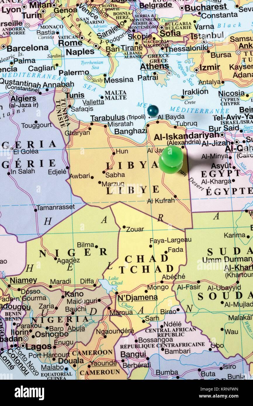 Mapa De Libia Foto Imagen De Stock 169503873 Alamy