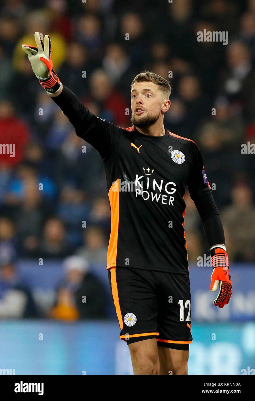 El Leicester City portero Ben Hamer durante el carabao en cuartos de ...
