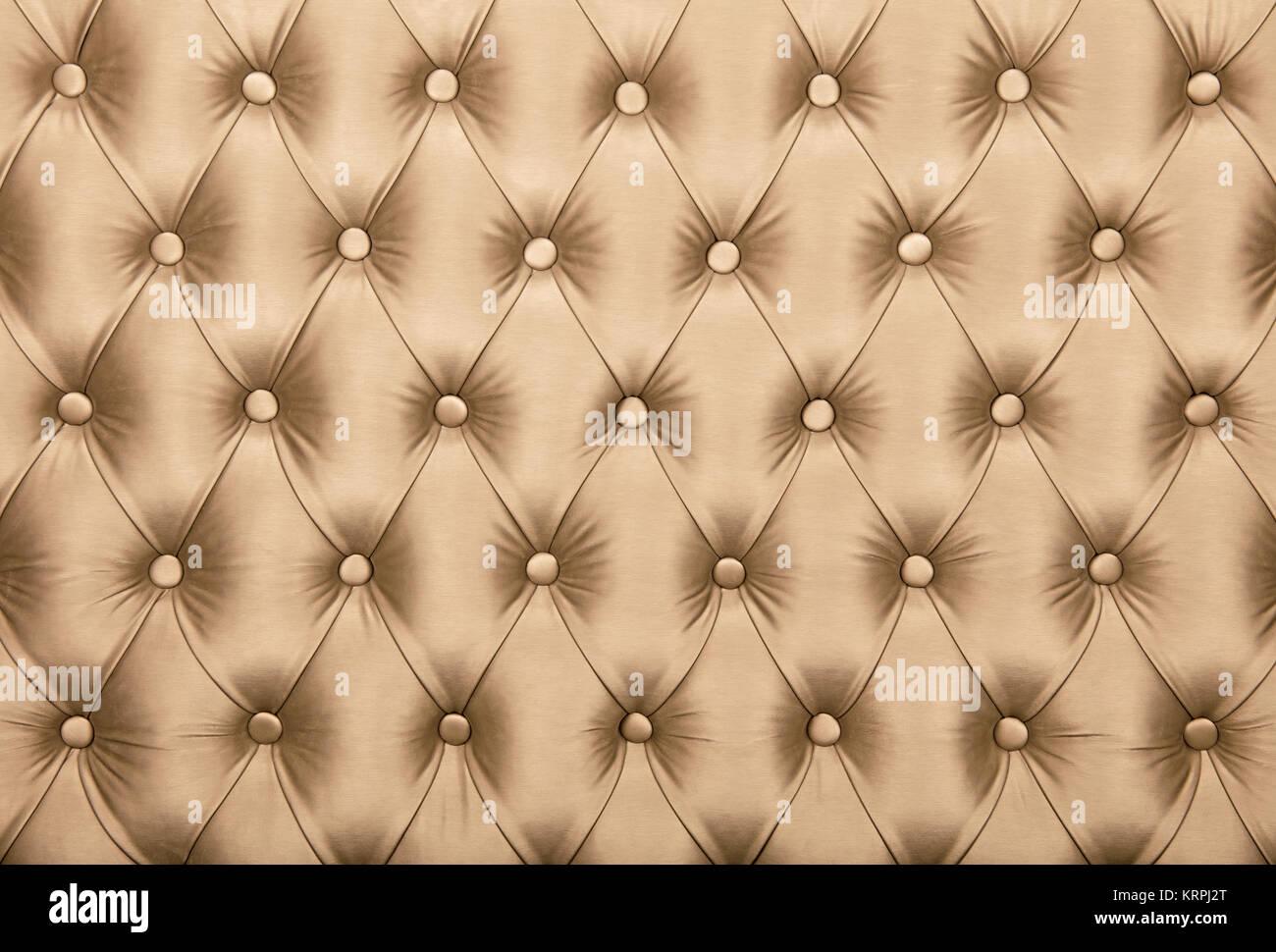 Fondo textil capitone beige, retro estilo Chesterfield accidentada ...