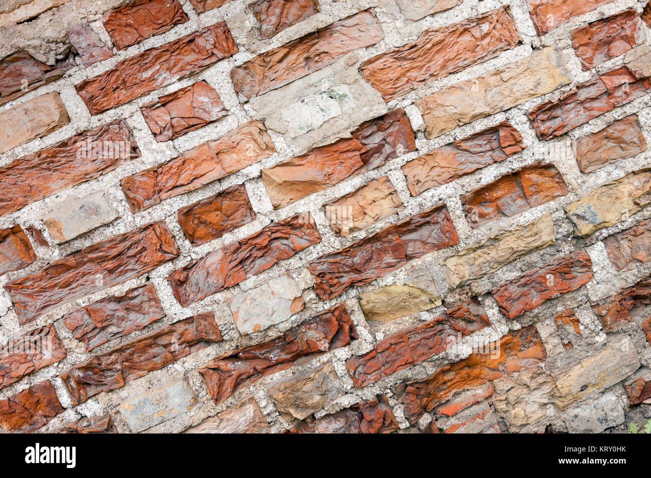 Pared de ladrillo antiguo fondo sucio Foto de stock