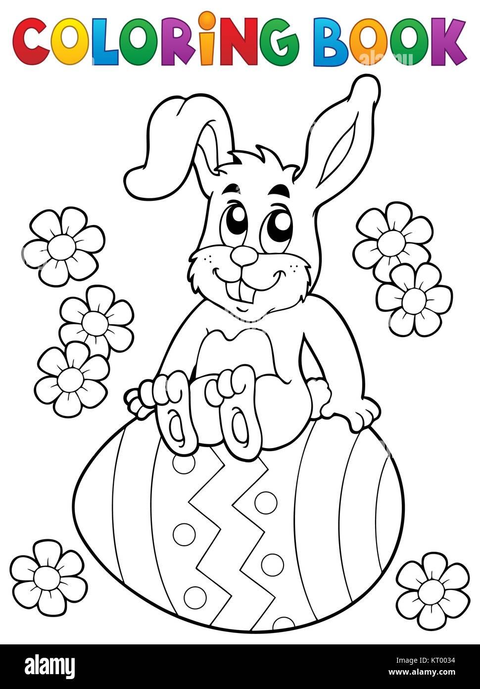 Libro para colorear de Conejo de Pascua Tema 5 Foto & Imagen De ...