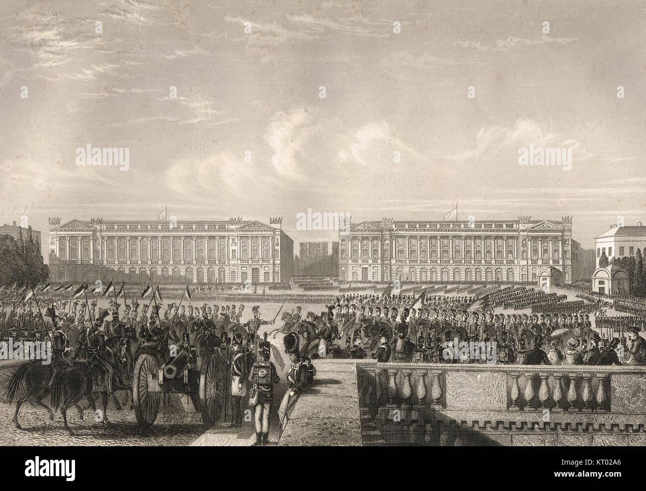 La entrada de los Aliados en París, 7 de julio de 1815. Campaña de Waterloo, Waterloo a París 2-7 Imagen De Stock