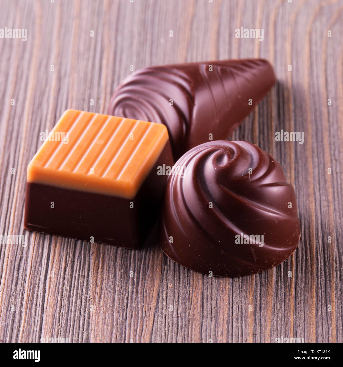 Chocolates de diferentes tipos Foto de stock