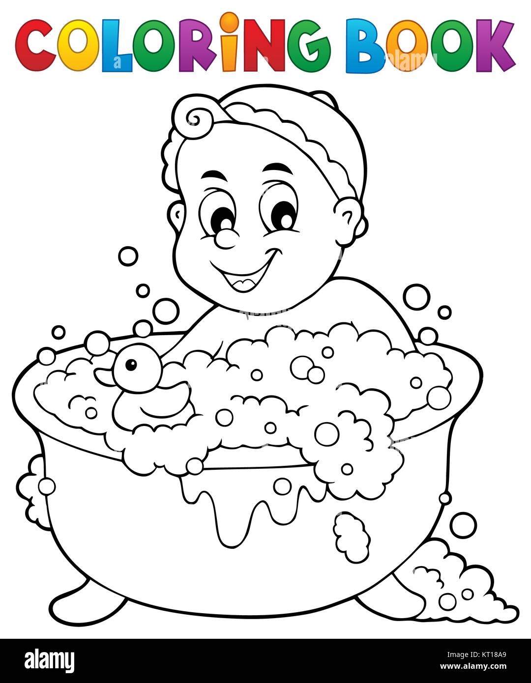 Child And Bath And Illustration Imágenes De Stock & Child And Bath ...