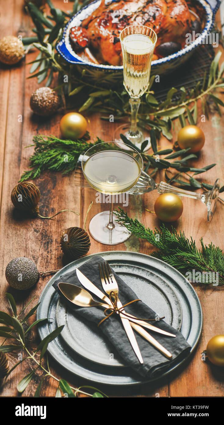 Celebración O Año La De Nuevo Pavo Navidad Ajuste TablaPollo SqzMVUp