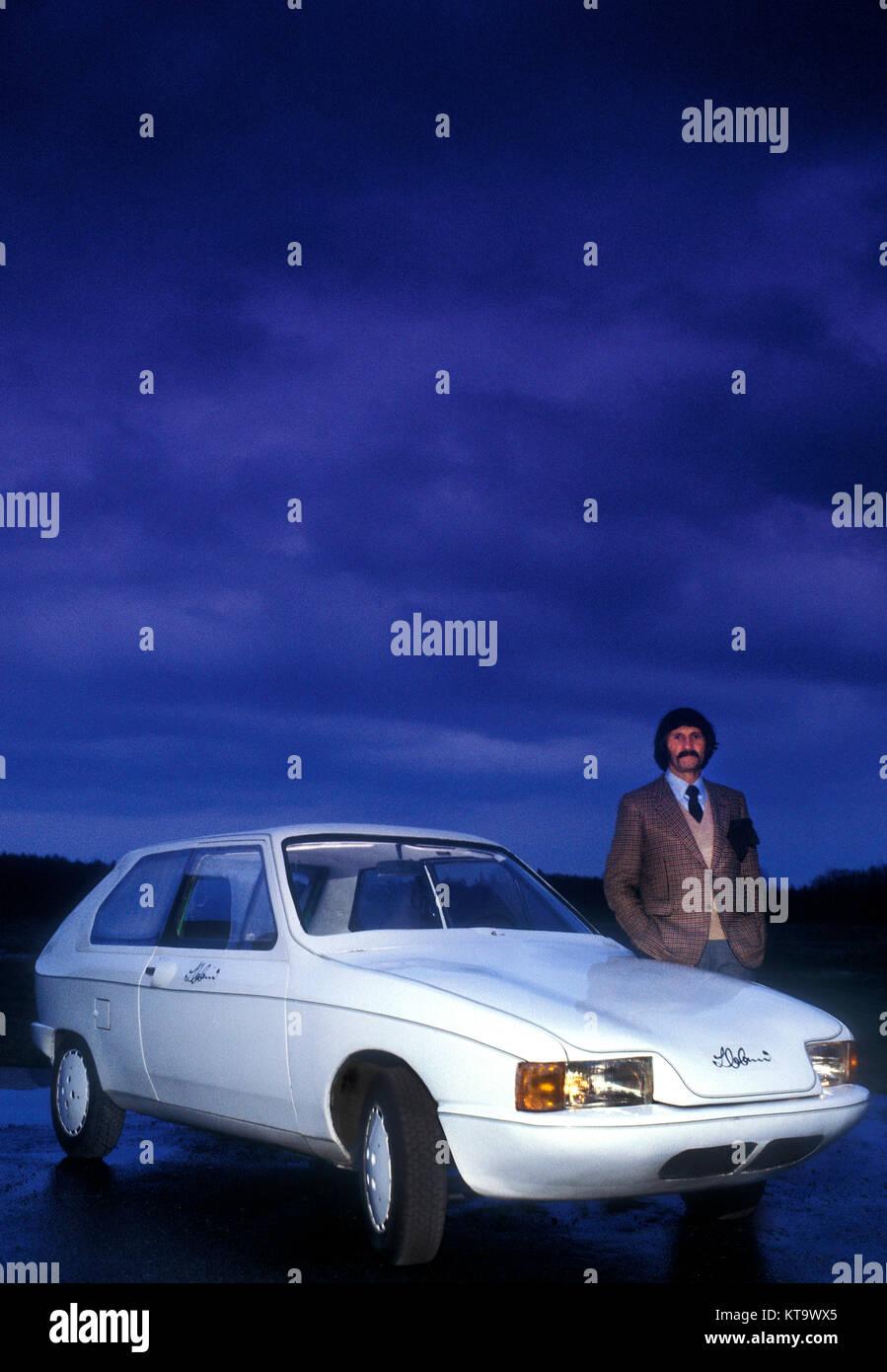 Luigi Colani con concepto de diseño VW Polo coche Alemania 1978 Imagen De Stock