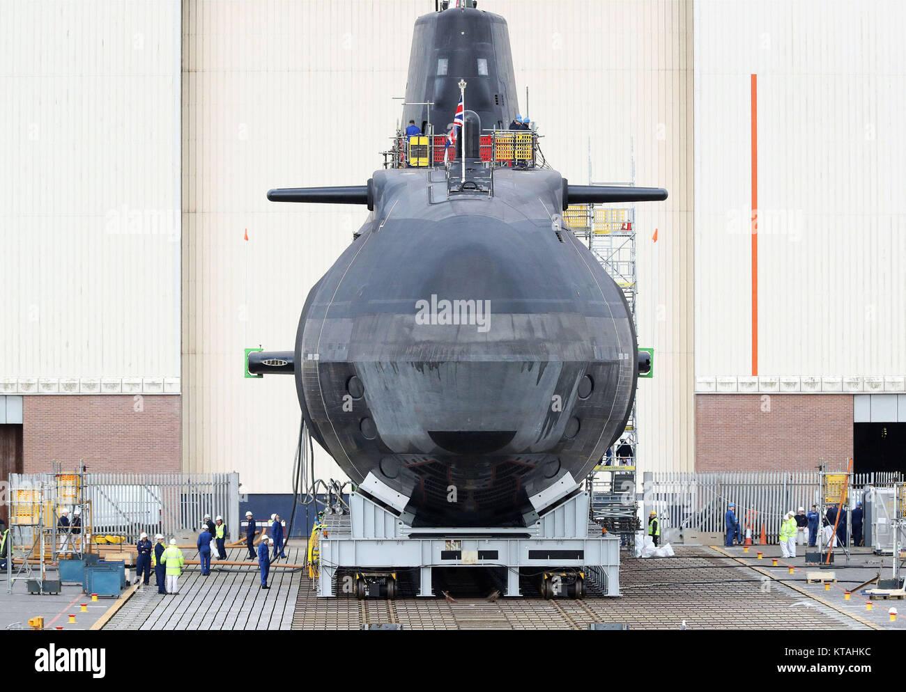 Examen del Año 2017: abril: La nueva cuarta clase astuto submarinos de propulsión nuclear, HMS Audacious, Imagen De Stock