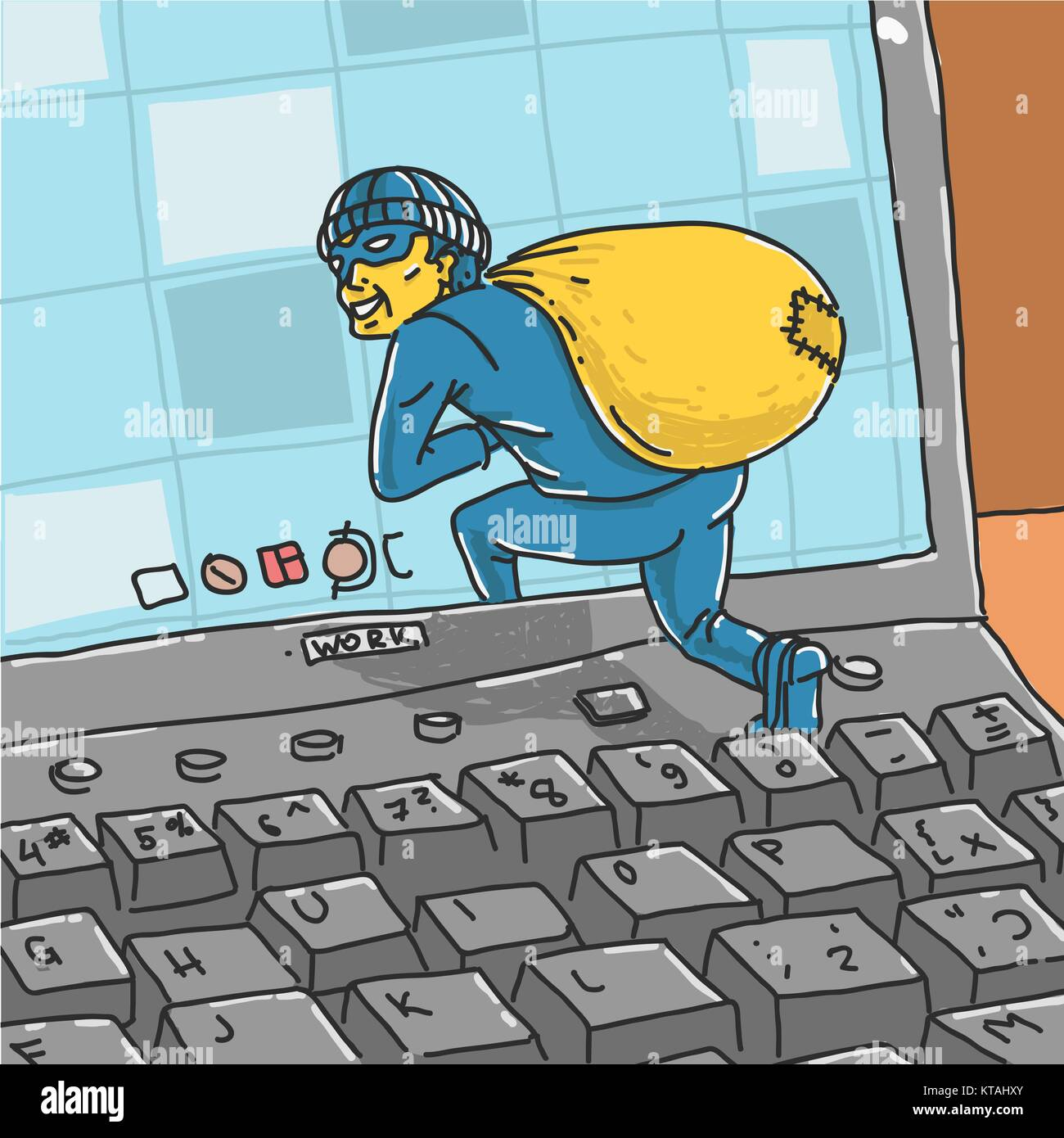 Hacker roba información del equipo Imagen De Stock