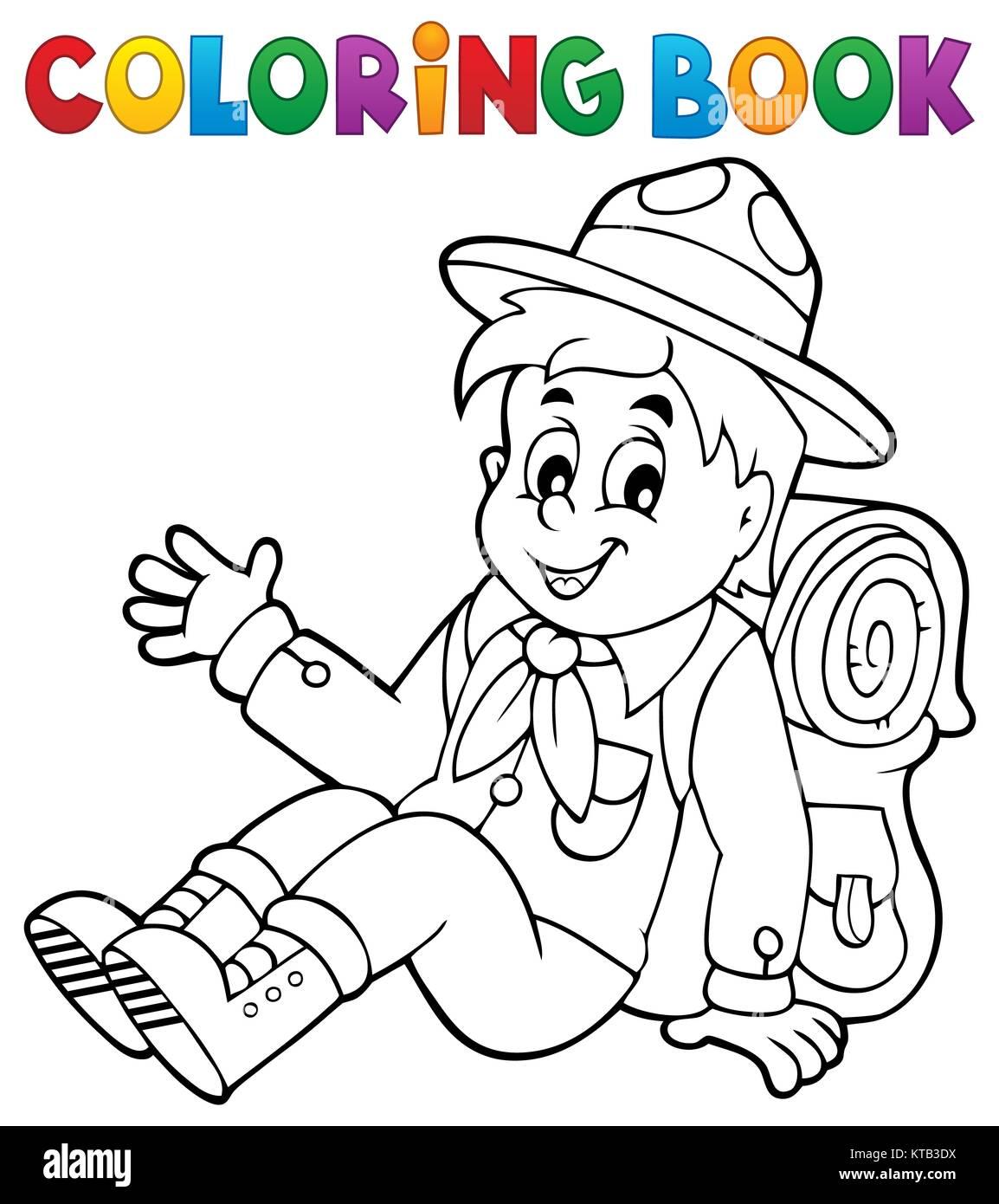 Atractivo Girl Scout Para Colorear Con Promesas Viñeta - Dibujos ...