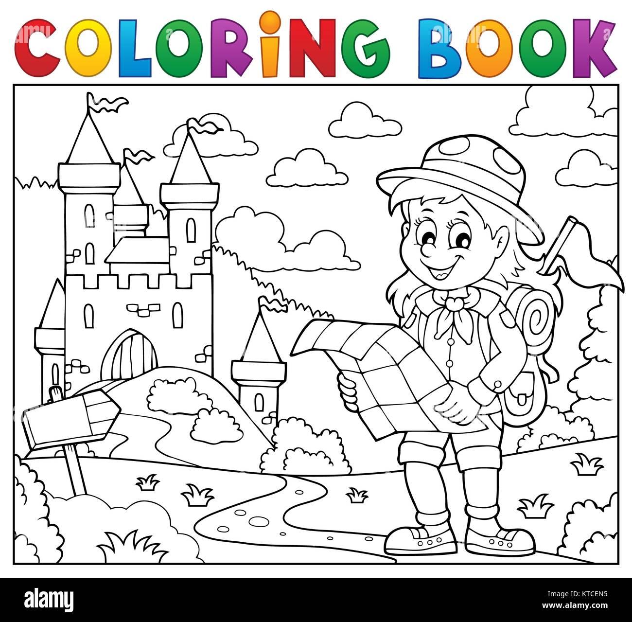 Hermosa Daisy Scout Para Colorear Festooning - Dibujos Para Colorear ...