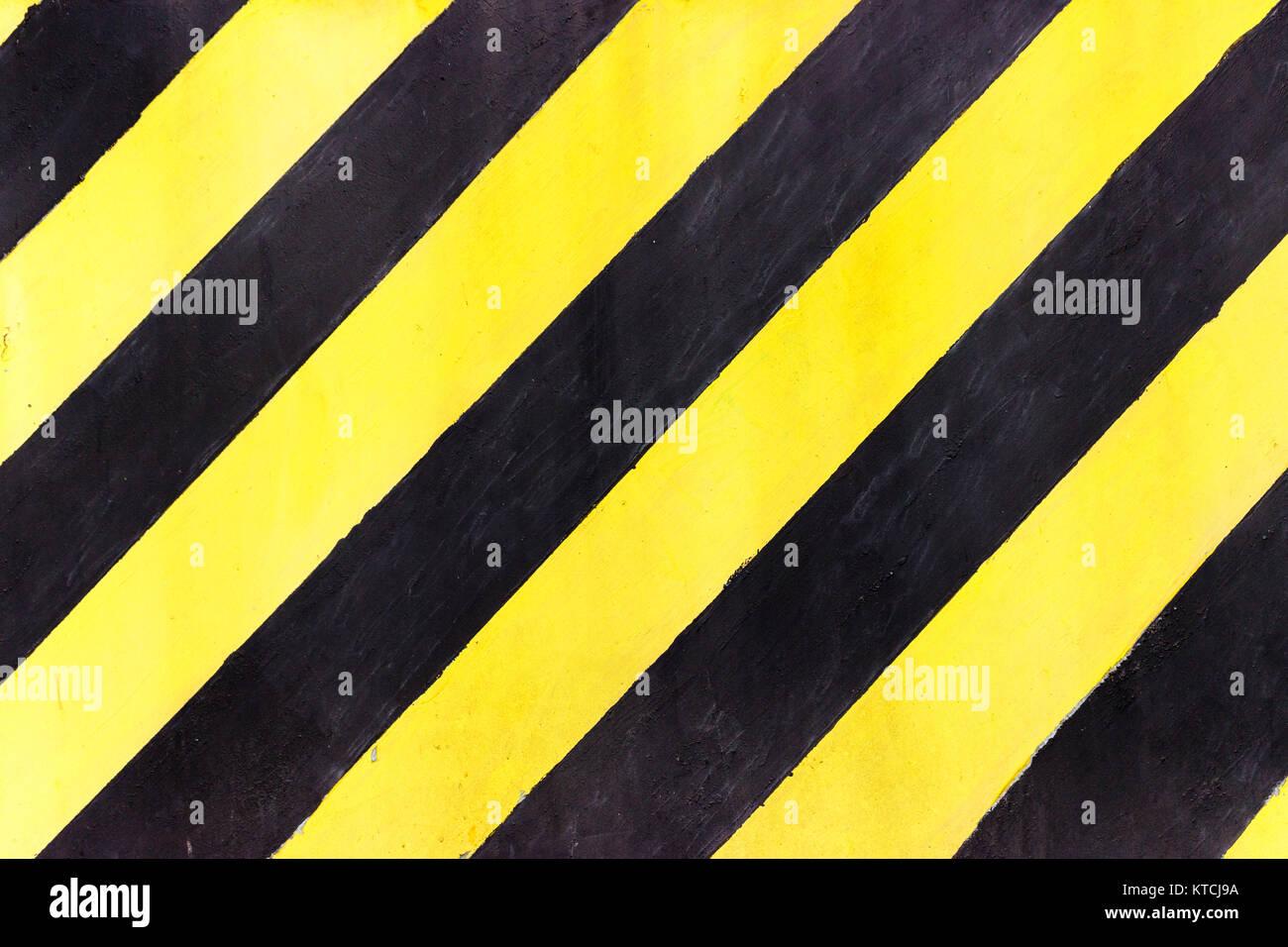 Franjas de seguridad en obras de construcción, de color negro y ...