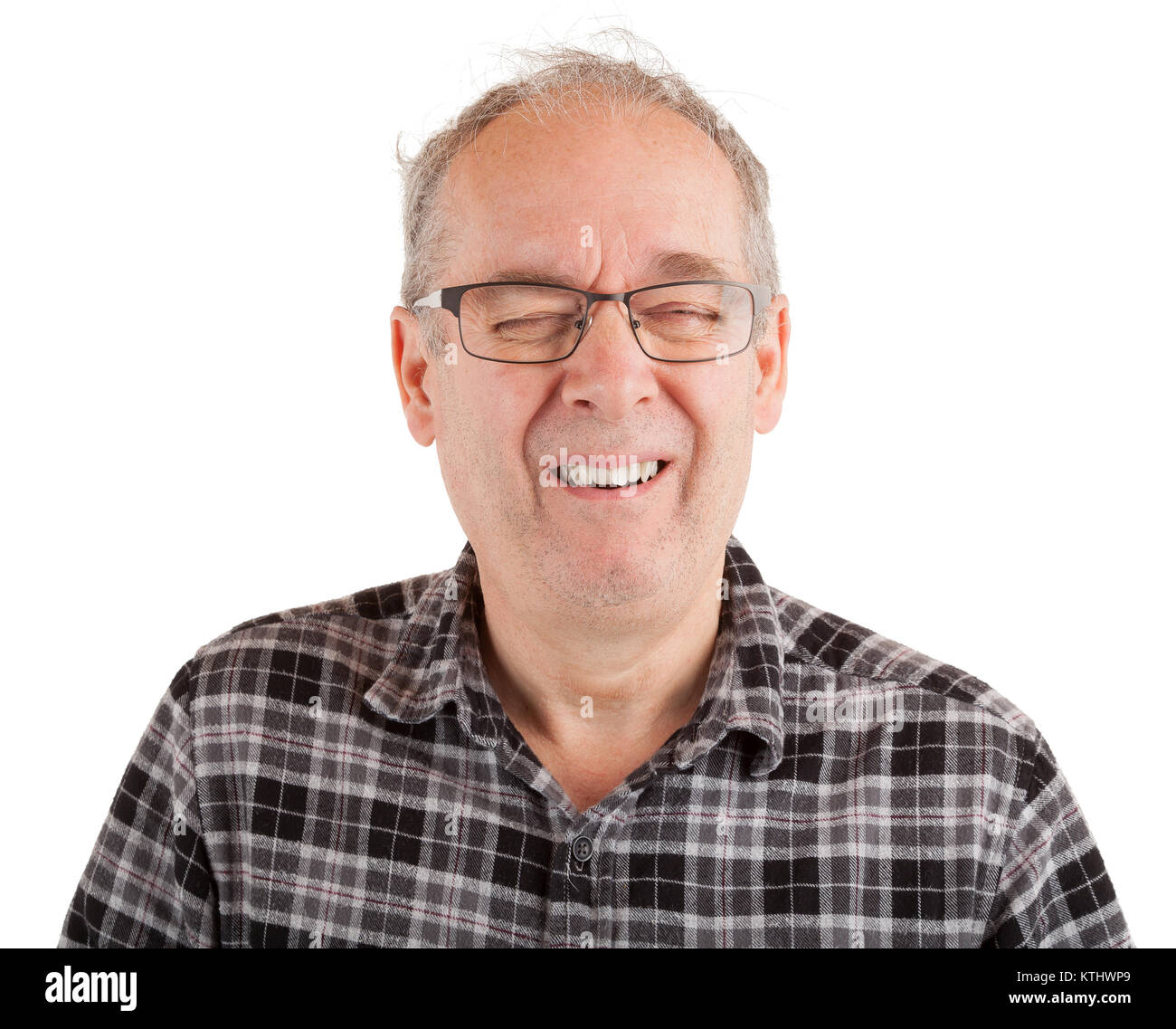 El hombre riendo hard Imagen De Stock