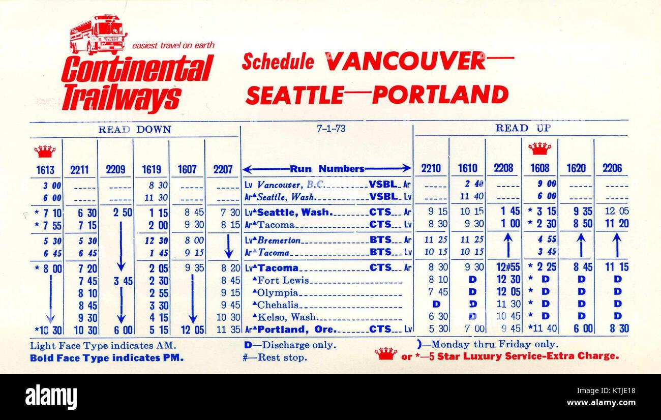 Calendario 1973.Trailways Continental Calendario 1973 07 01 Foto Imagen De